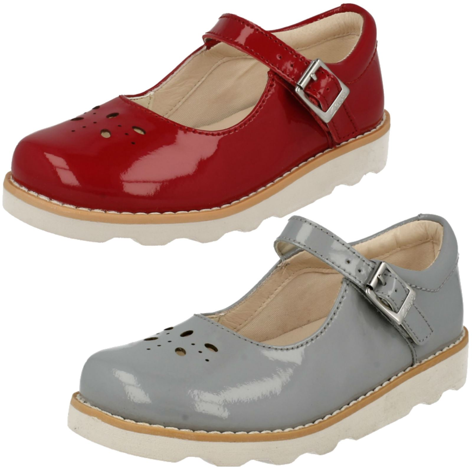 Infant/Junior Girls Clarks Smart Shoes *Crown Posy*
