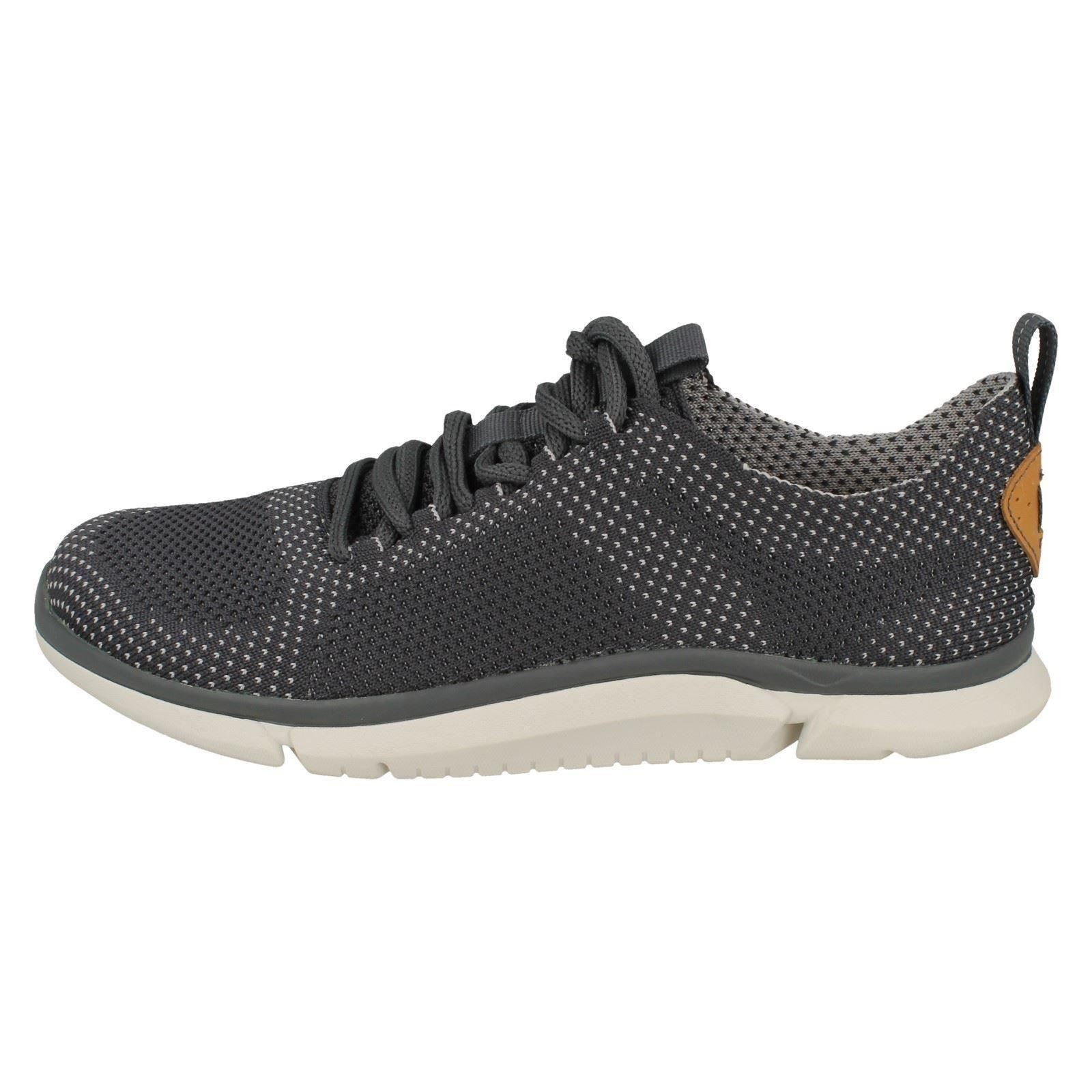 Mens Up Clarks Lace Up Mens Trainers - Triken Run ac0536