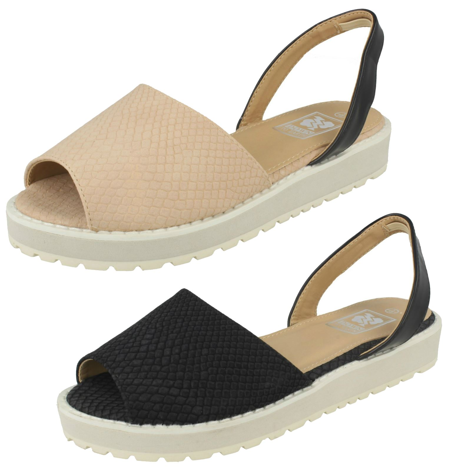 Womens Down Sandals' To Earth Slingback 'Casual Sandals' Down 367afd