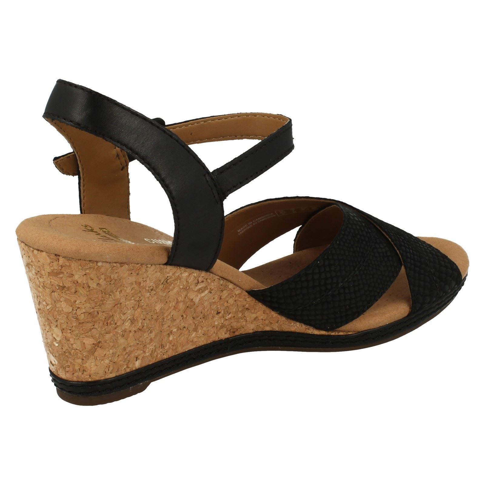 7a4ed00ac93b Clarks-Ladies-Open-Toe-Wedge-Sandals-Helio-Latitude thumbnail