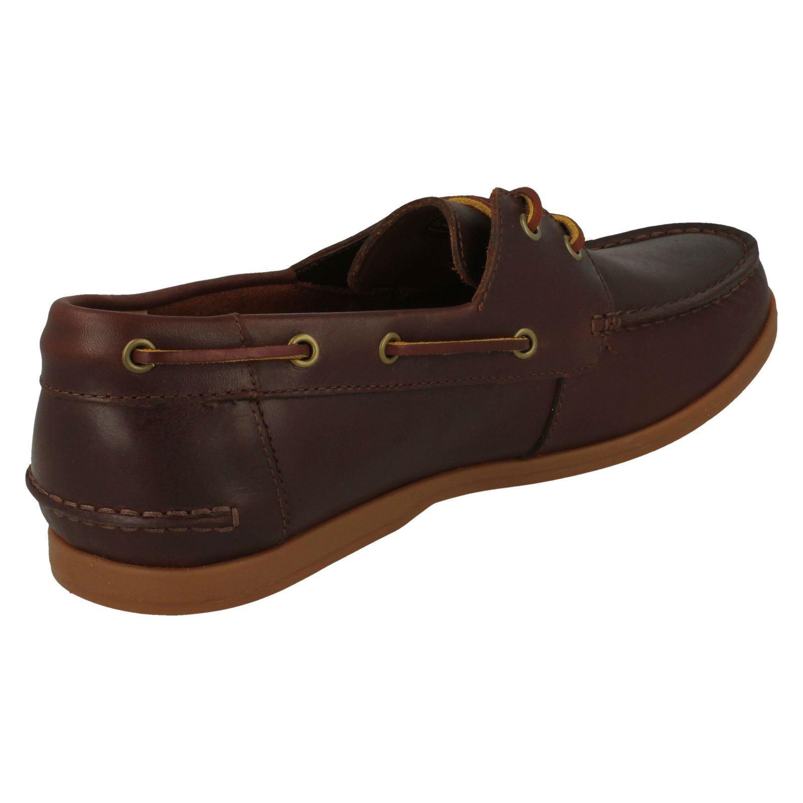 'Mens Clarks' Lace Up Boat Shoes - Morven Sail