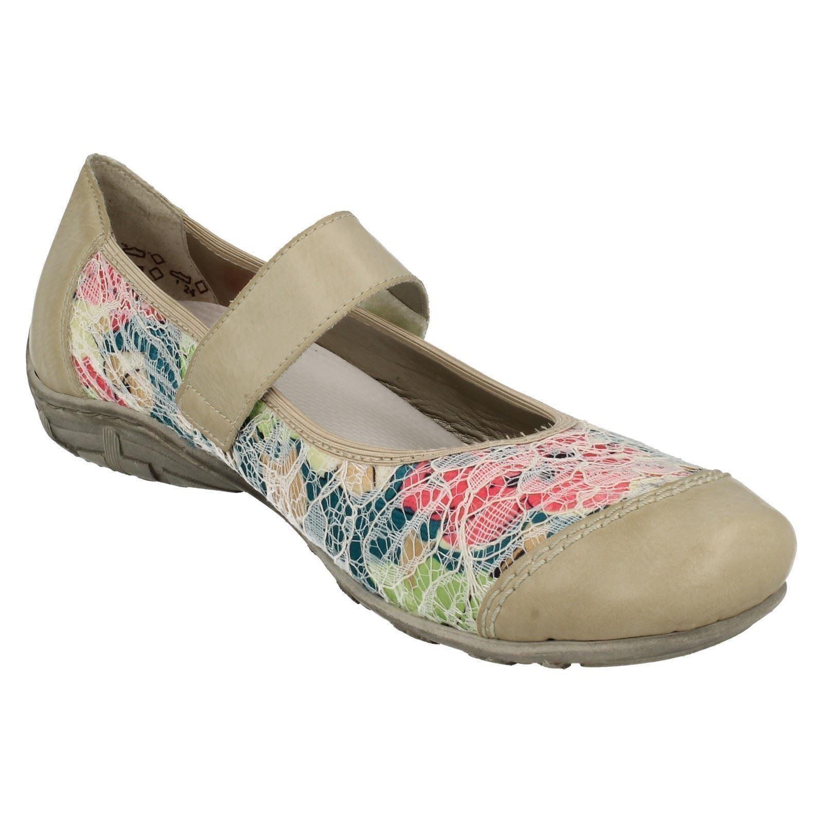 Ladies Schuhes Rieker Flat Schuhes Ladies L2072     bfdad1