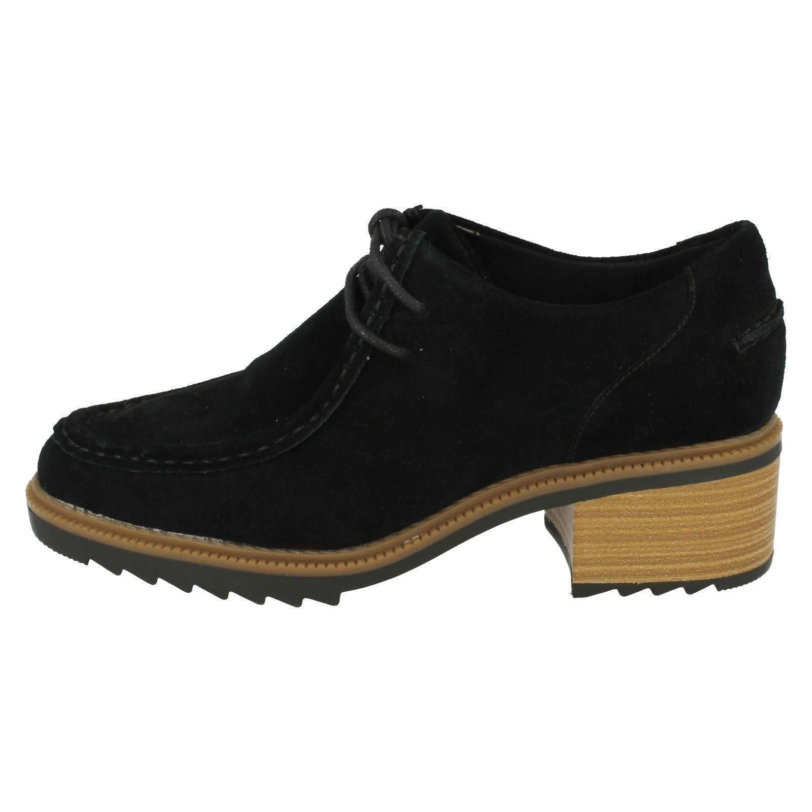Damas Clarks Zapatos Taco Grueso, Balmer Willow