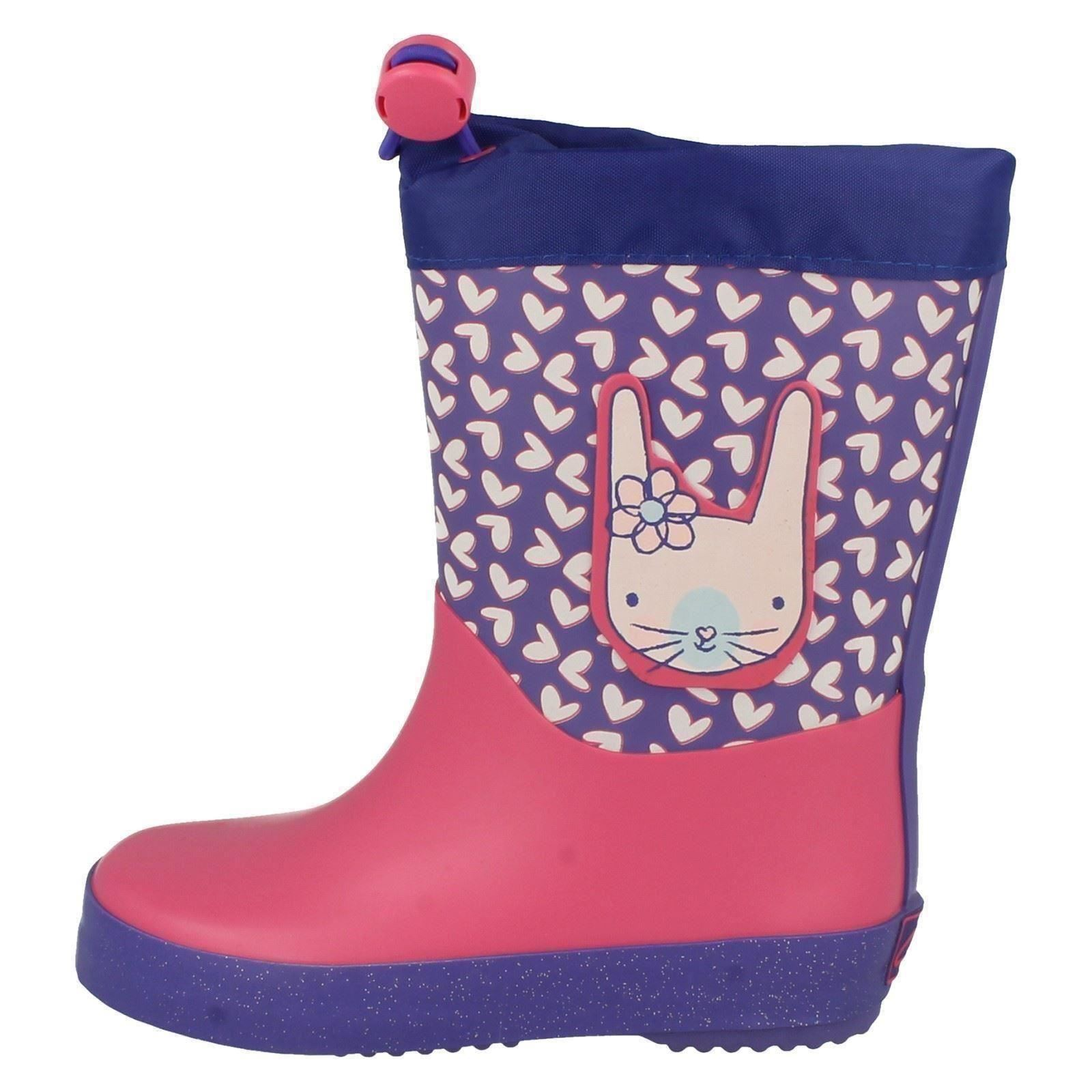 Clarks Girls Rabbit Themed Wellingtons - Tarri Ava
