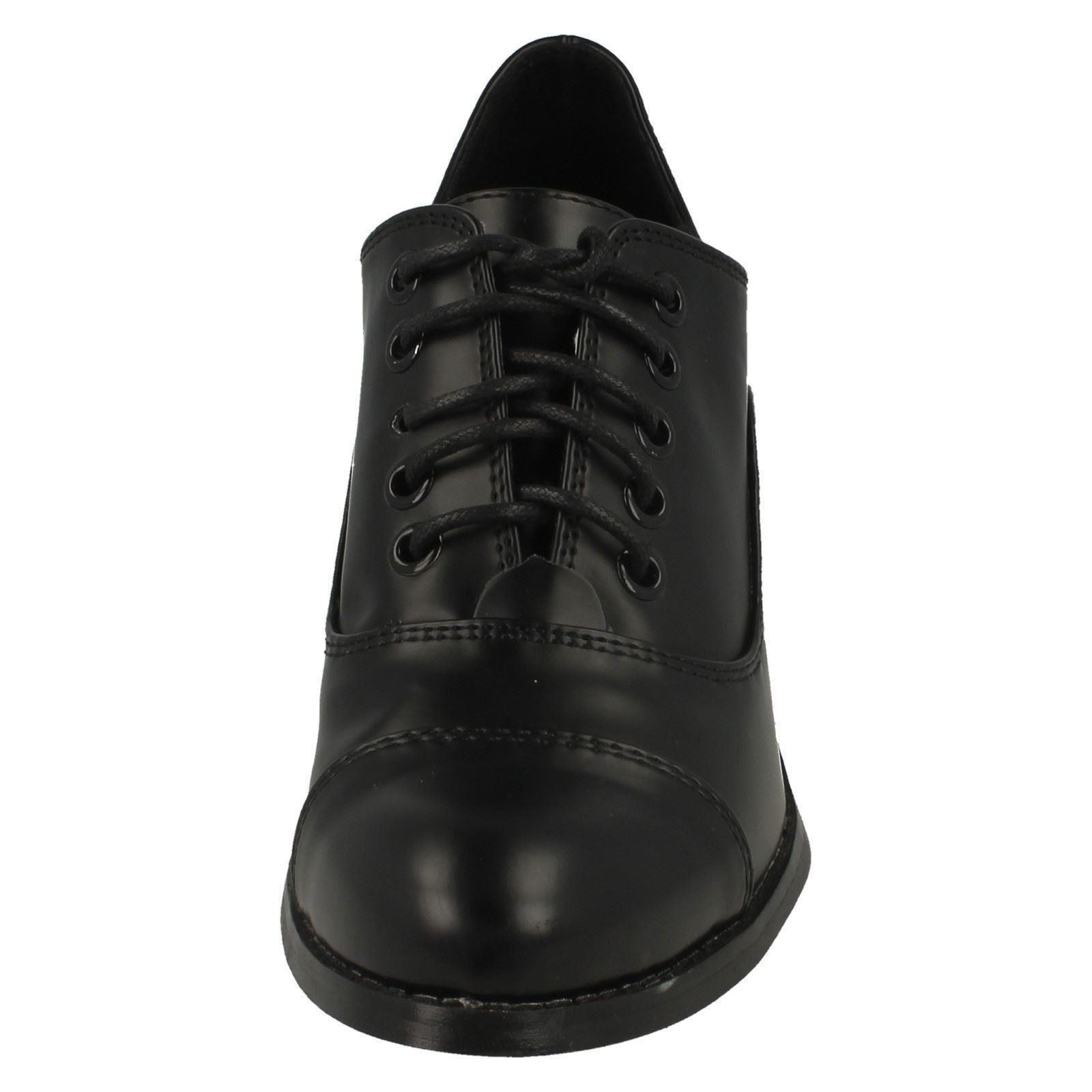 Ladies Spot On Blocked Heel Shoes