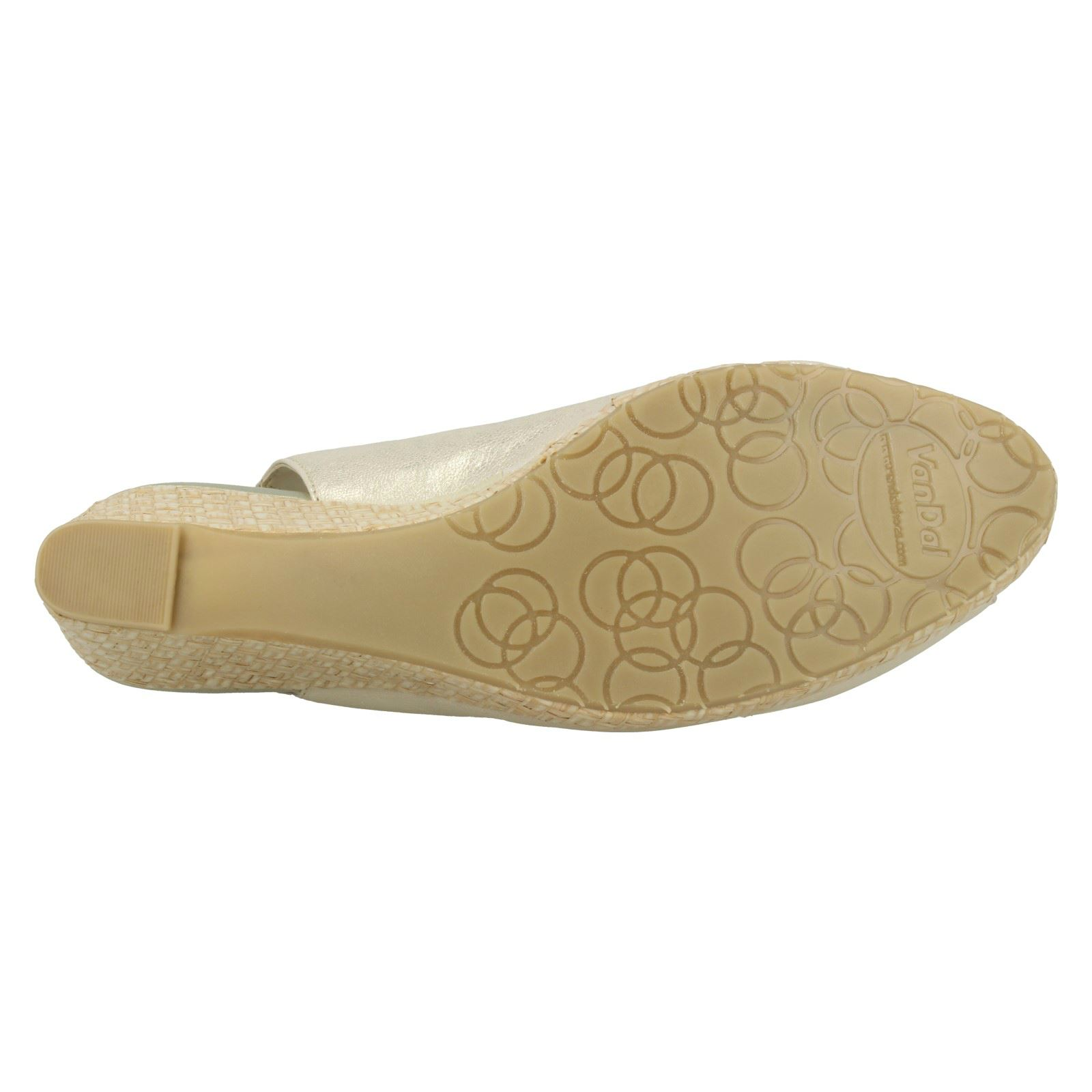 Ladies-Van-Dal-Leather-Wedge-Sandal-With-Woven-Detail-Avalon thumbnail 13