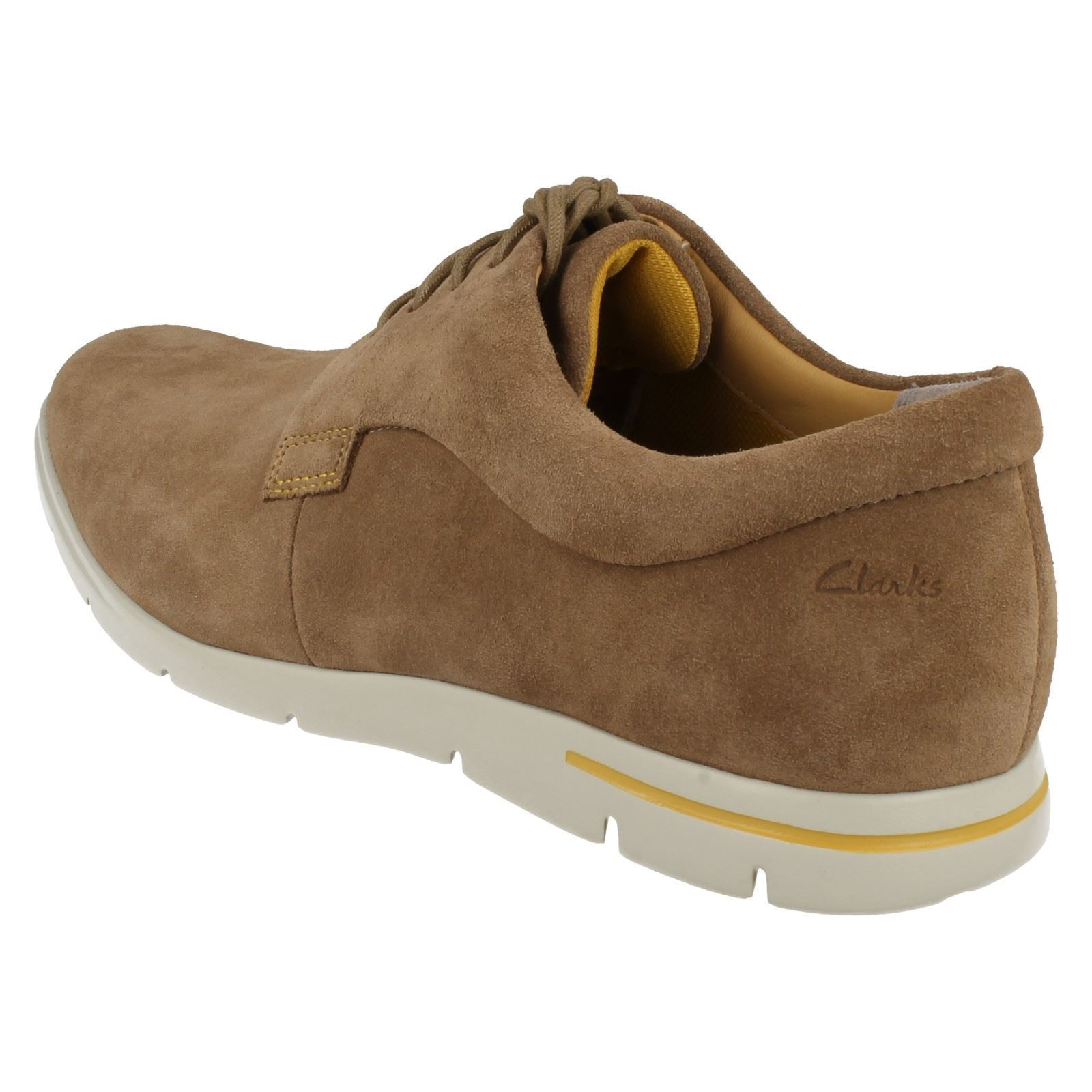 Mens Clarks Leather Suede Lace Up Shoes - Denner Motion