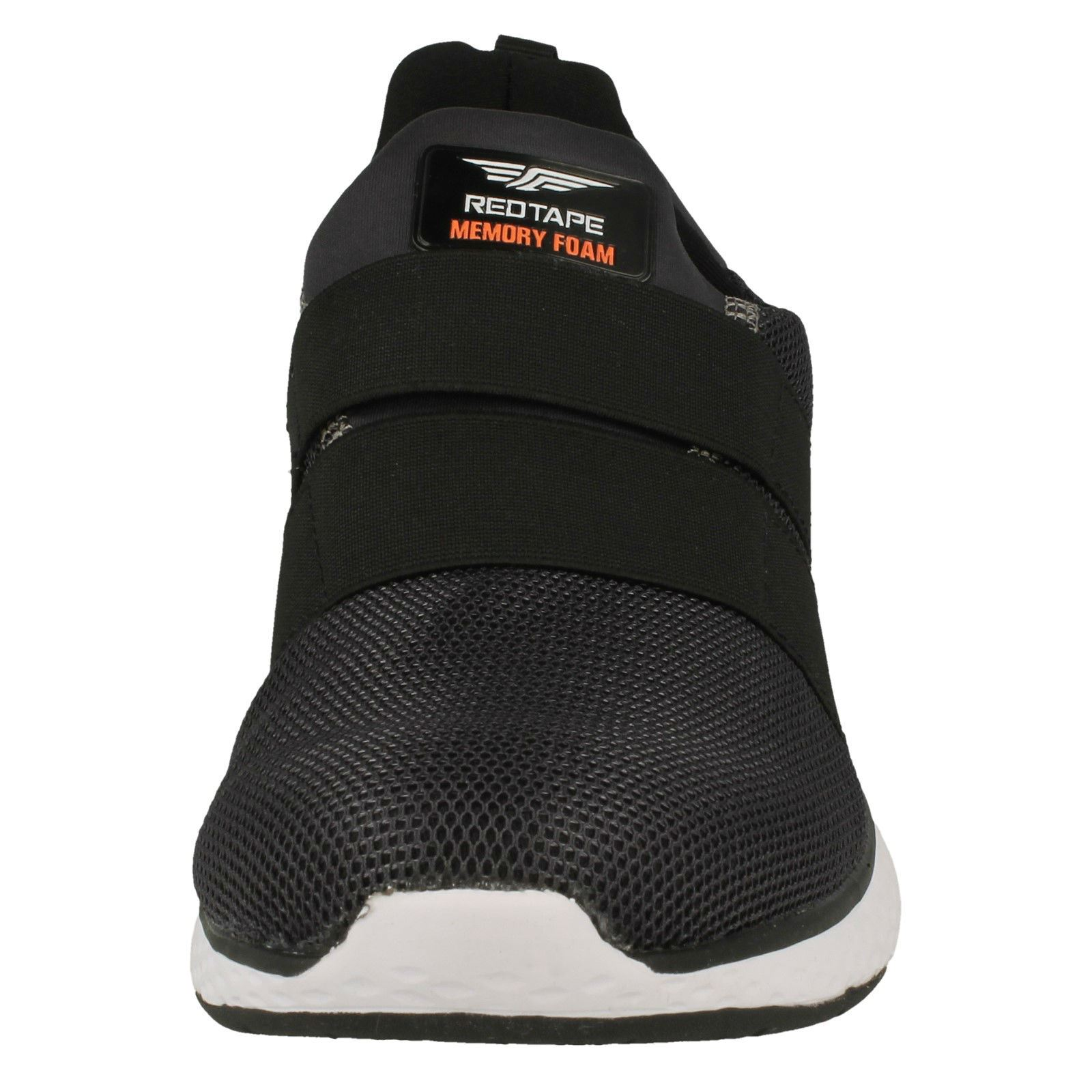 MENS RED TAPE RSC0061 MEMORY FOAM SLIP ON COMFORT SHOES BLACK SPORTS TRAINERS