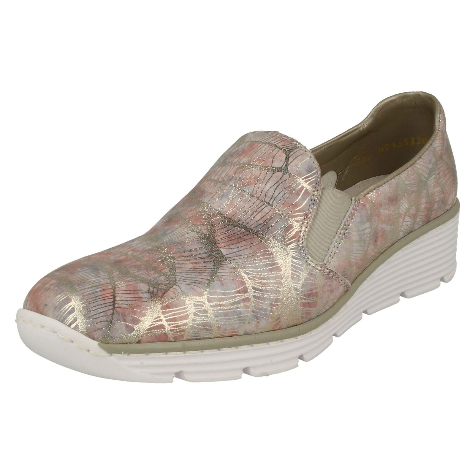 Womens On Rieker Casual Flat Slip On Womens Shoes '58766' f54ab8