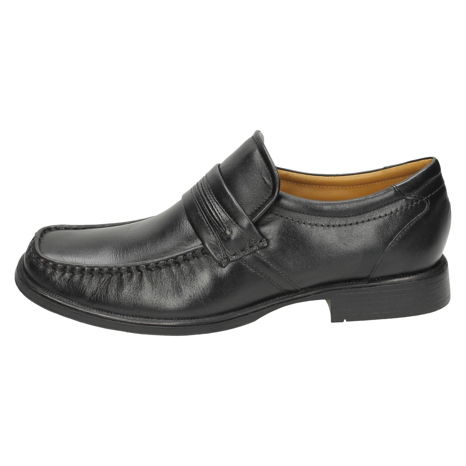 nero Shoes Maniglia lavoro Formal Mens Clarks On Slip 1B7wq0