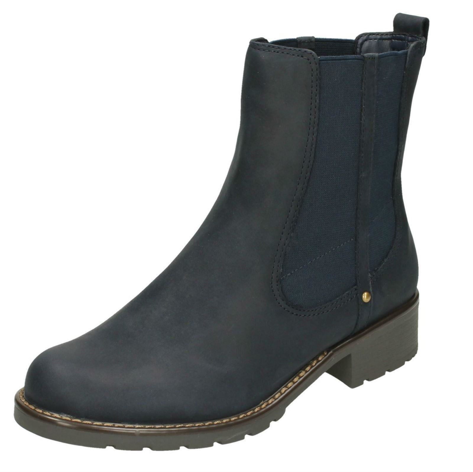664bcfd10a3ca Ladies Clarks Orinoco Club Chelsea Pull on BOOTS Navy (blue) UK 5.5 D.  About this product. Picture 1 of 10; Picture 2 of 10 ...