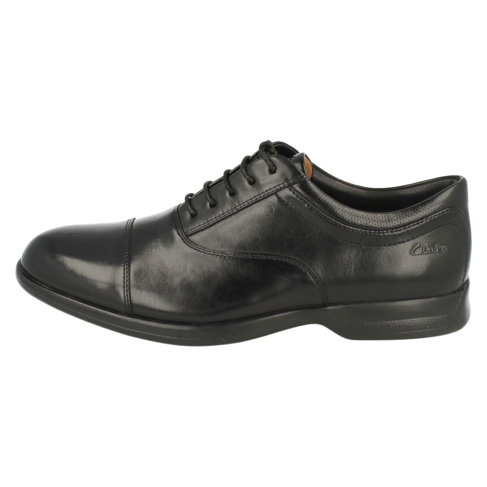 Mens nero generale Clarks 5 Cap Up Lace Smart Shoes rqCx6Trn