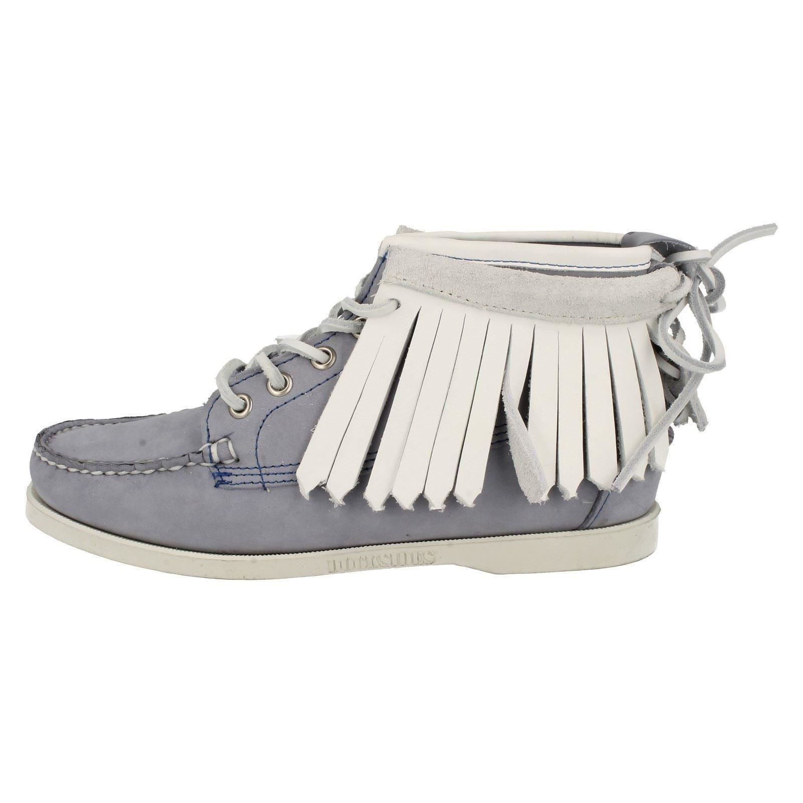 Ladies-Sebago-Fringed-Ankle-Boots-Abenaki