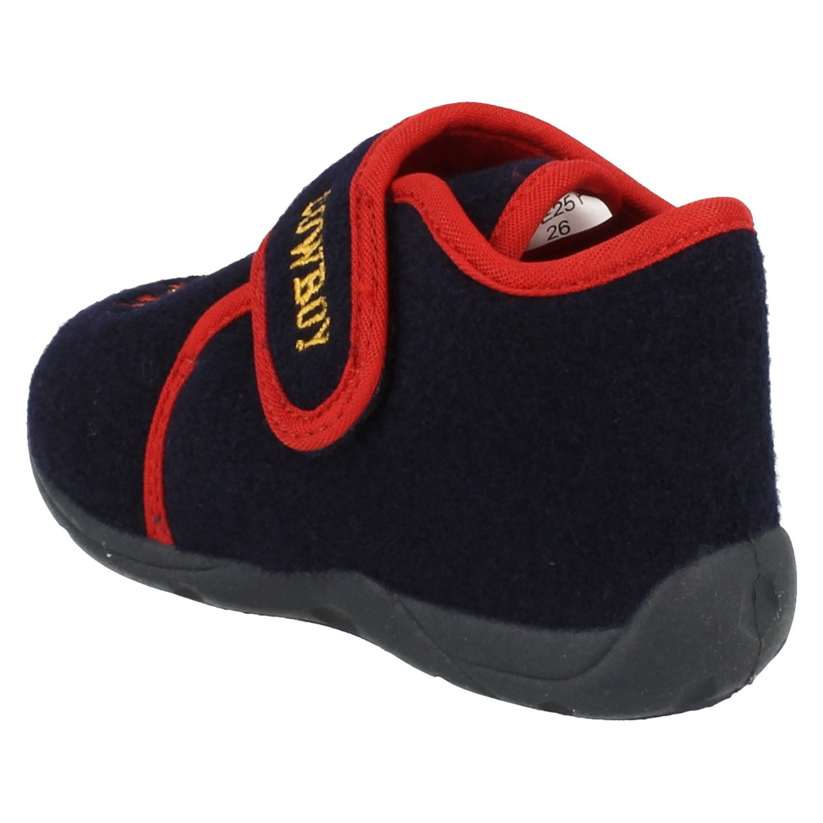 'Infant Boys Startrite' Rounded Toe Riptape Strap Bootie Slippers - Rodeo