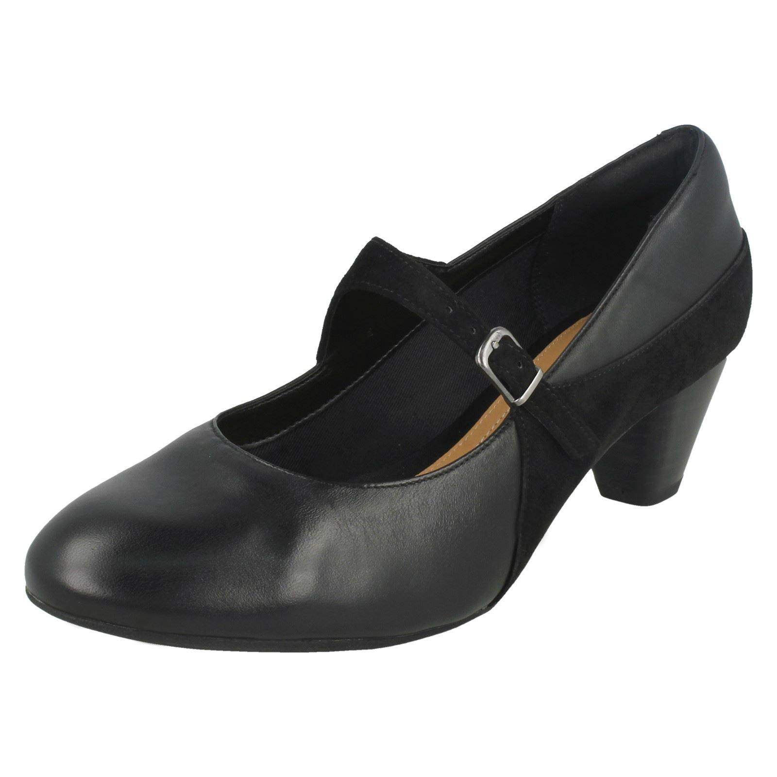 Ladies Clarks Formal Buckle Formal Clarks Court Shoes Denny Bradford 66349b