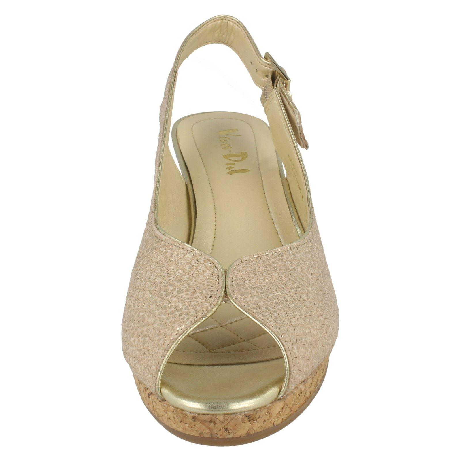 Ladies-Van-Dal-Cork-Wedge-Sandals-Gable thumbnail 8