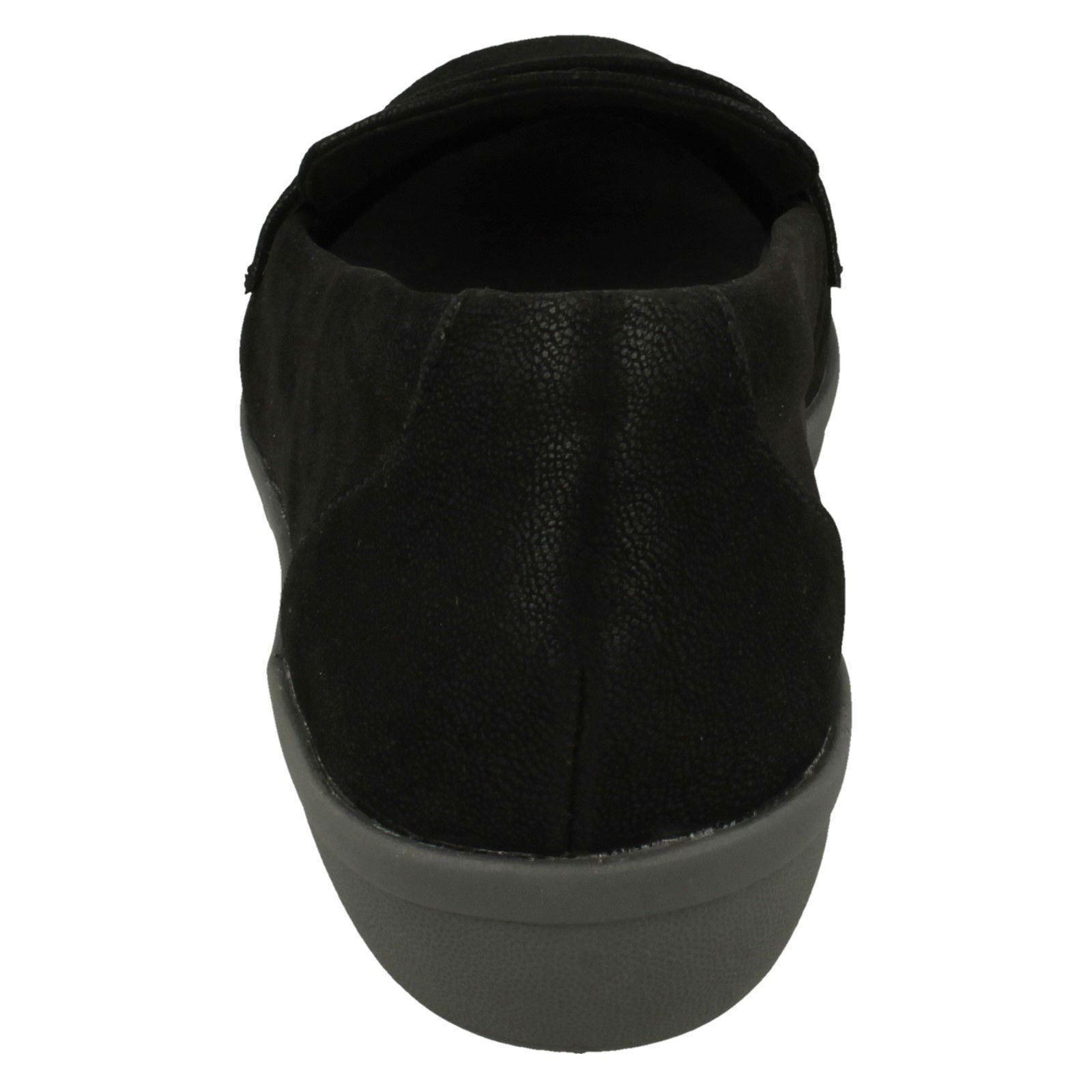 con zapatos de tela damas Ayla de Steppers Clarks antideslizantes Cloud Form estilo Zapatos Black para qzaYgxw