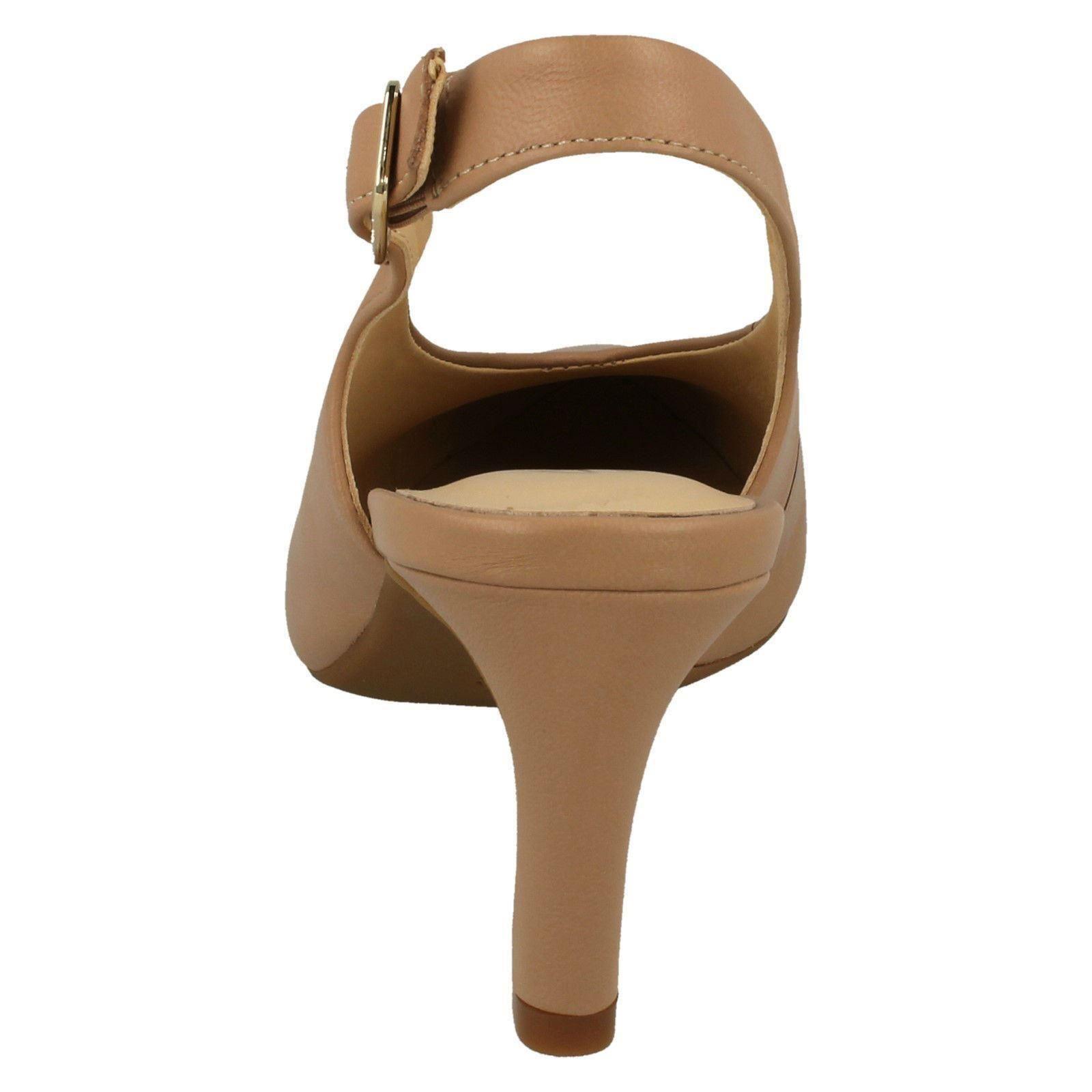 Damen Clarks Calla Violett Elegant Riemen Absatz Schuhe