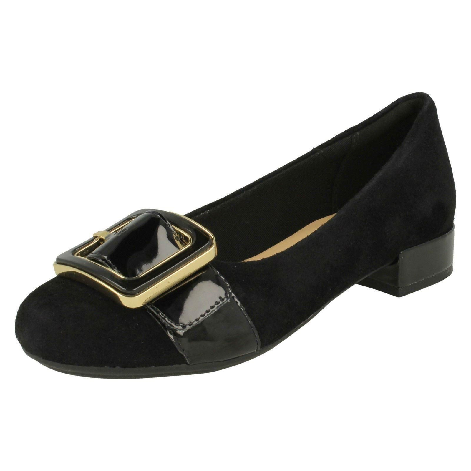 Ladies Stylish Clarks Stylish Ladies Low Heeled Shoes 'Rosabella Faye' dcf3ed