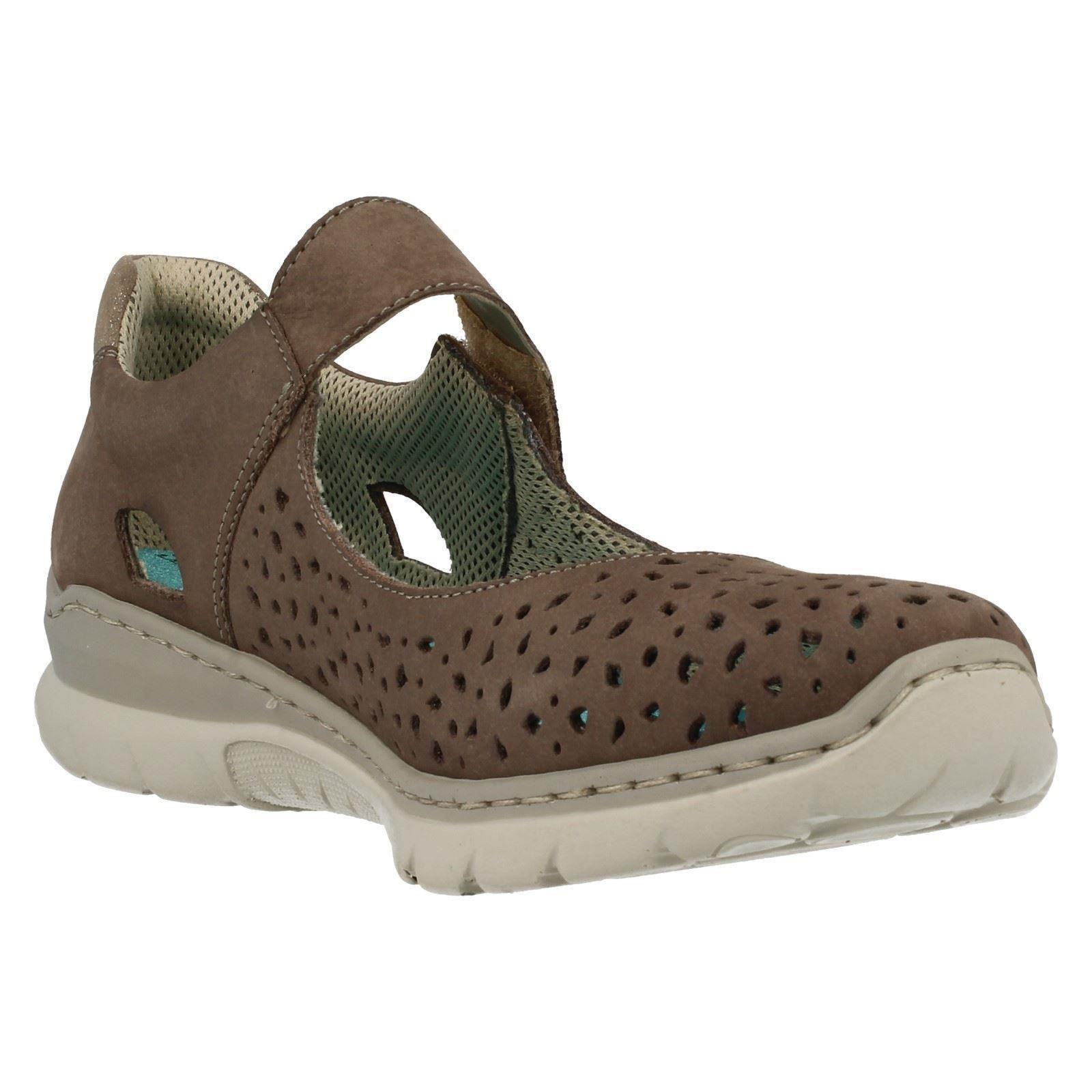 Damas Zapatos Rieker Casual Zapatos Damas Planos L3255 aedc1a