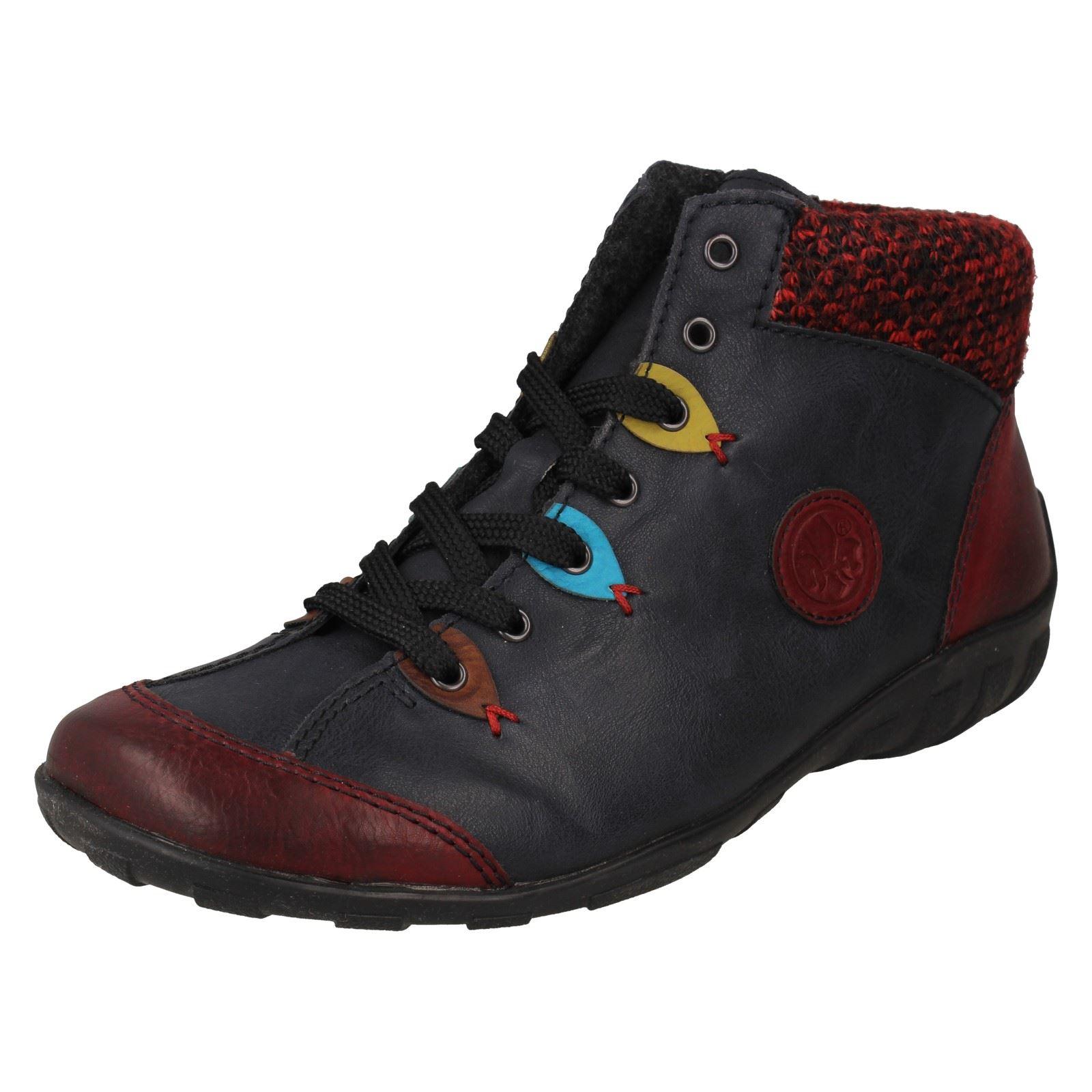 Rieker Eagle Damen Schuhe Schnürschuhe Antistress High Top Sneaker Boots L6513