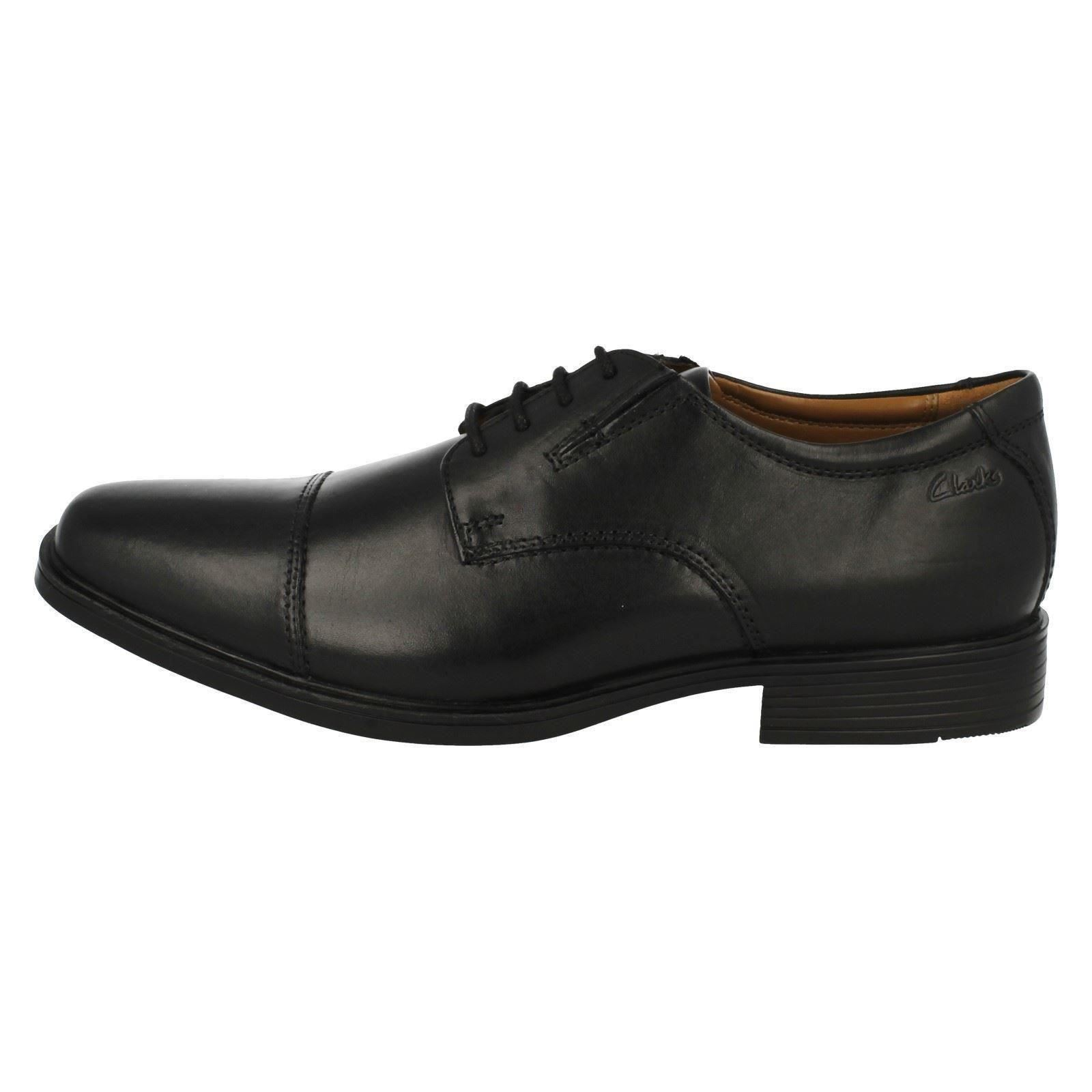 Mens-Clarks-Formal-Lace-Up-Shoes-Tilden-Cap thumbnail 7