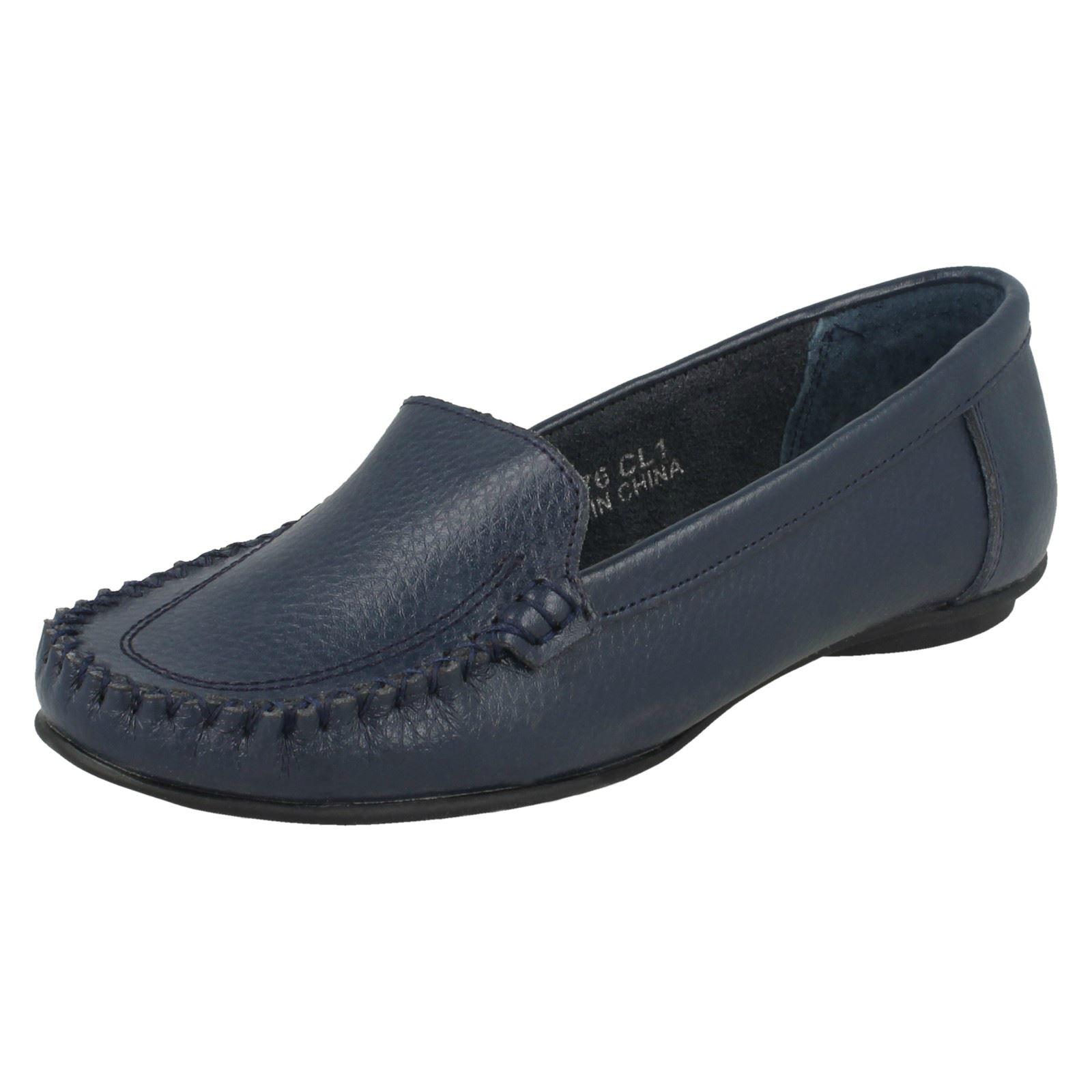 Damas Spot on Mocasín Zapatos Sin Cordones Mocasín De Cuero