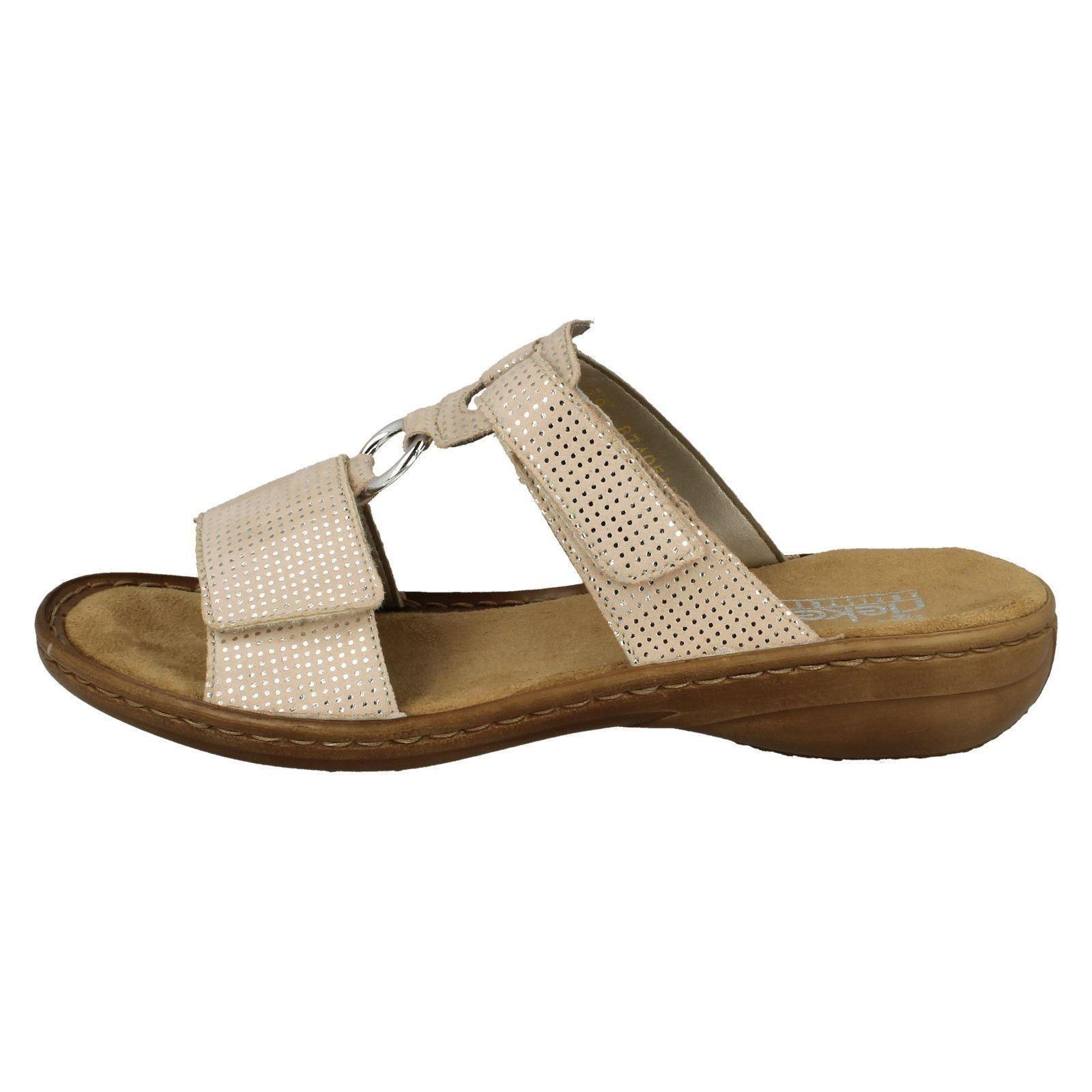 608p9 Slip On Femmes Mule Beige Rieker Sandals q5f50Xw