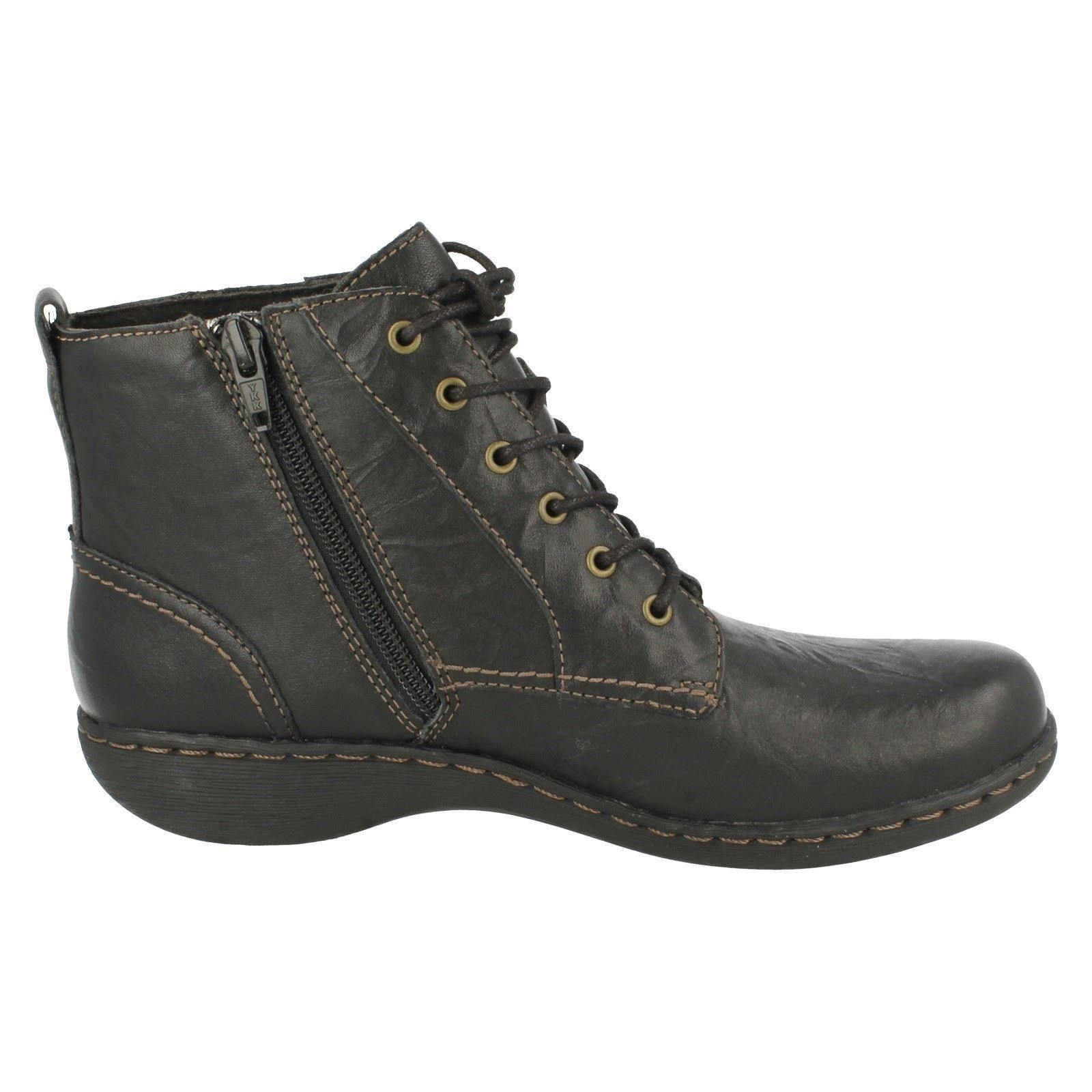 Ladies Ankle Lace Holly Black Up Clarks Boots Fianna qtprtO