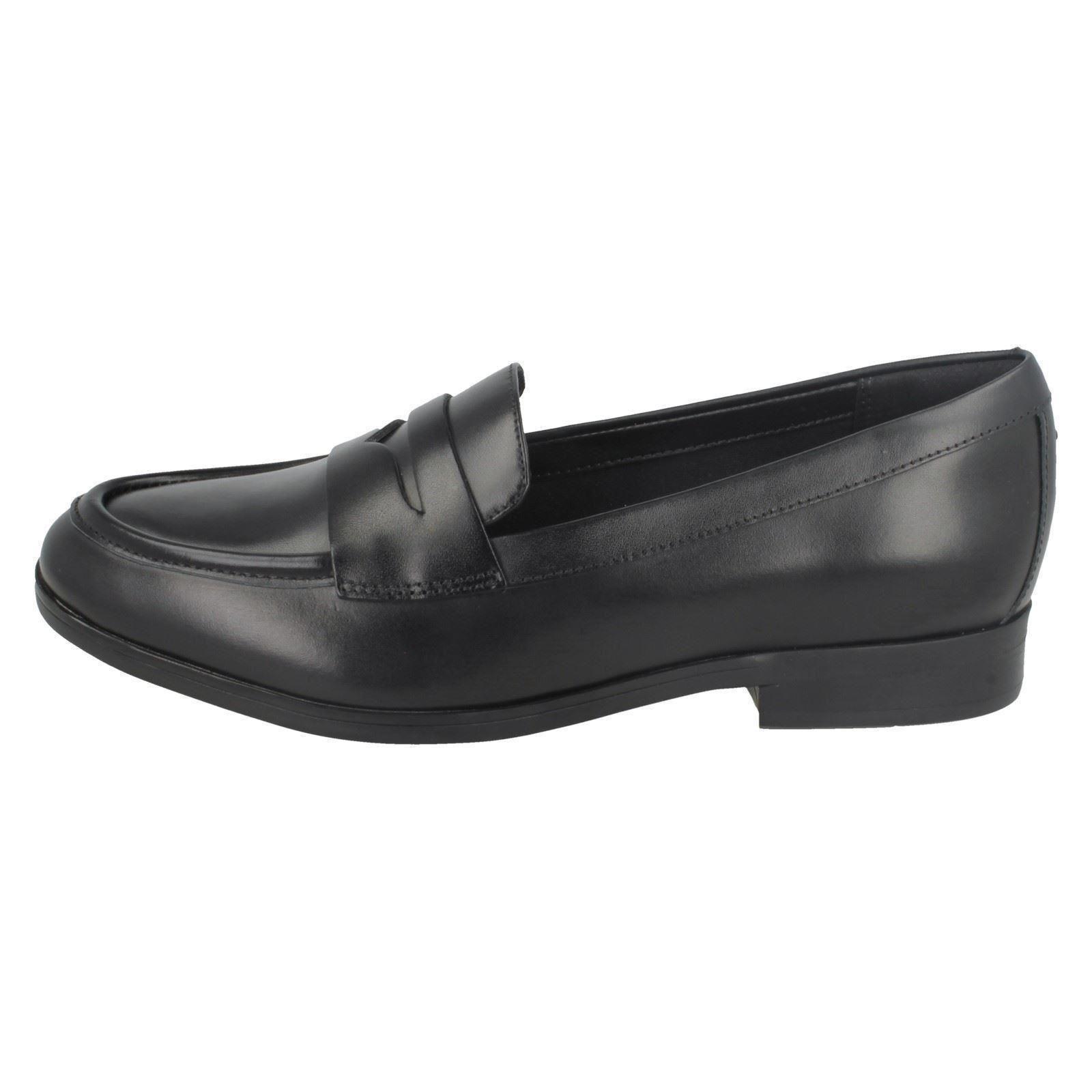 Tilmont Clarks Style Black Flats Zoe Loafer Ladies w0aqI0S