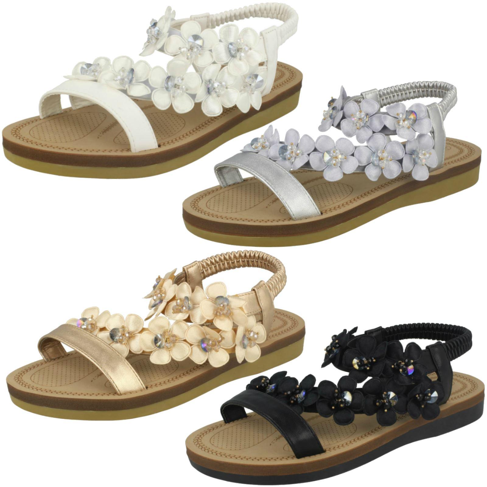 Gentlemen/Ladies workmanship Ladies Flower Trim Sandals *Anne Michelle* Exquisite (middle) workmanship Gentlemen/Ladies Order welcome have fun 789c8d
