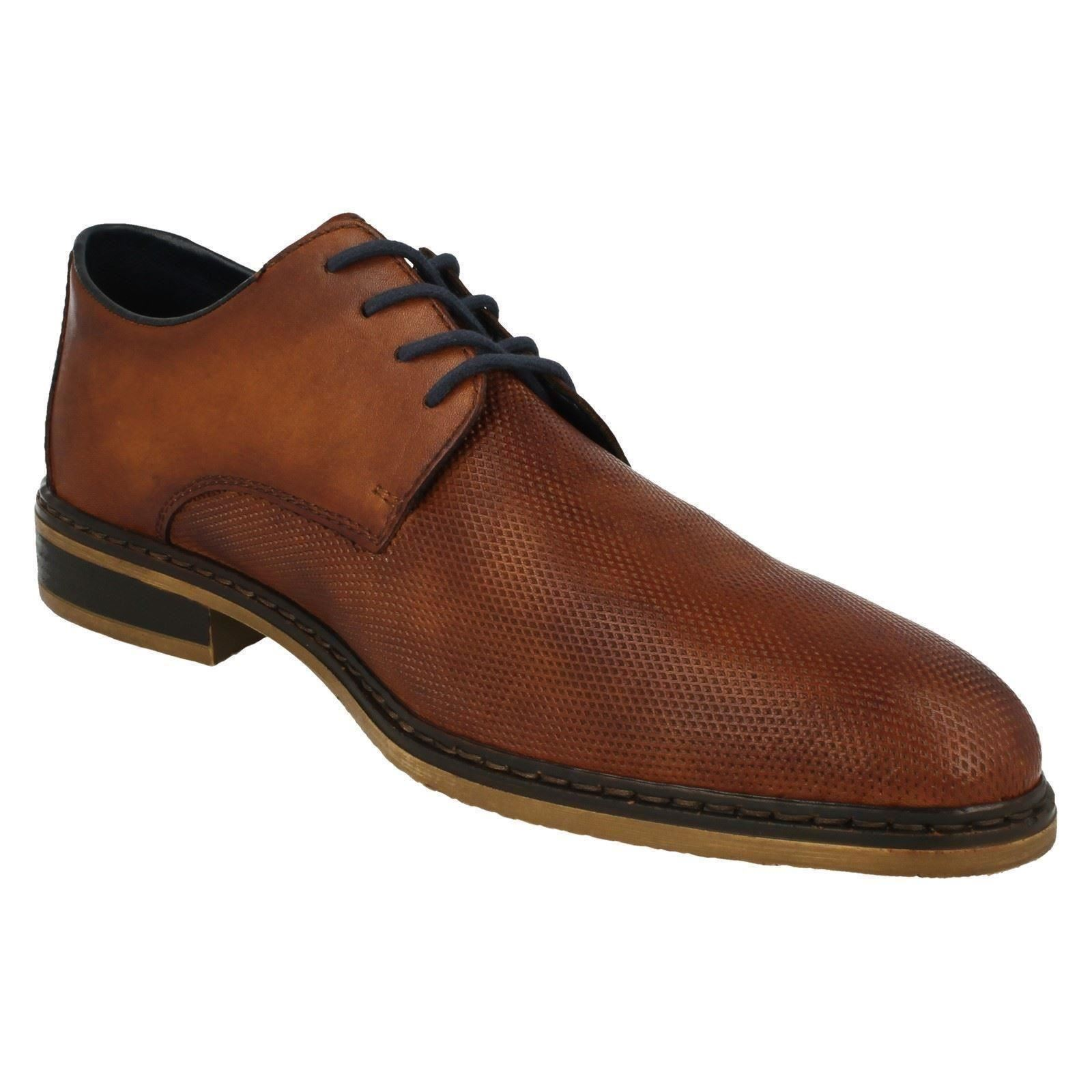 Mens Rieker Brown Lace-Up Shoe - 11415