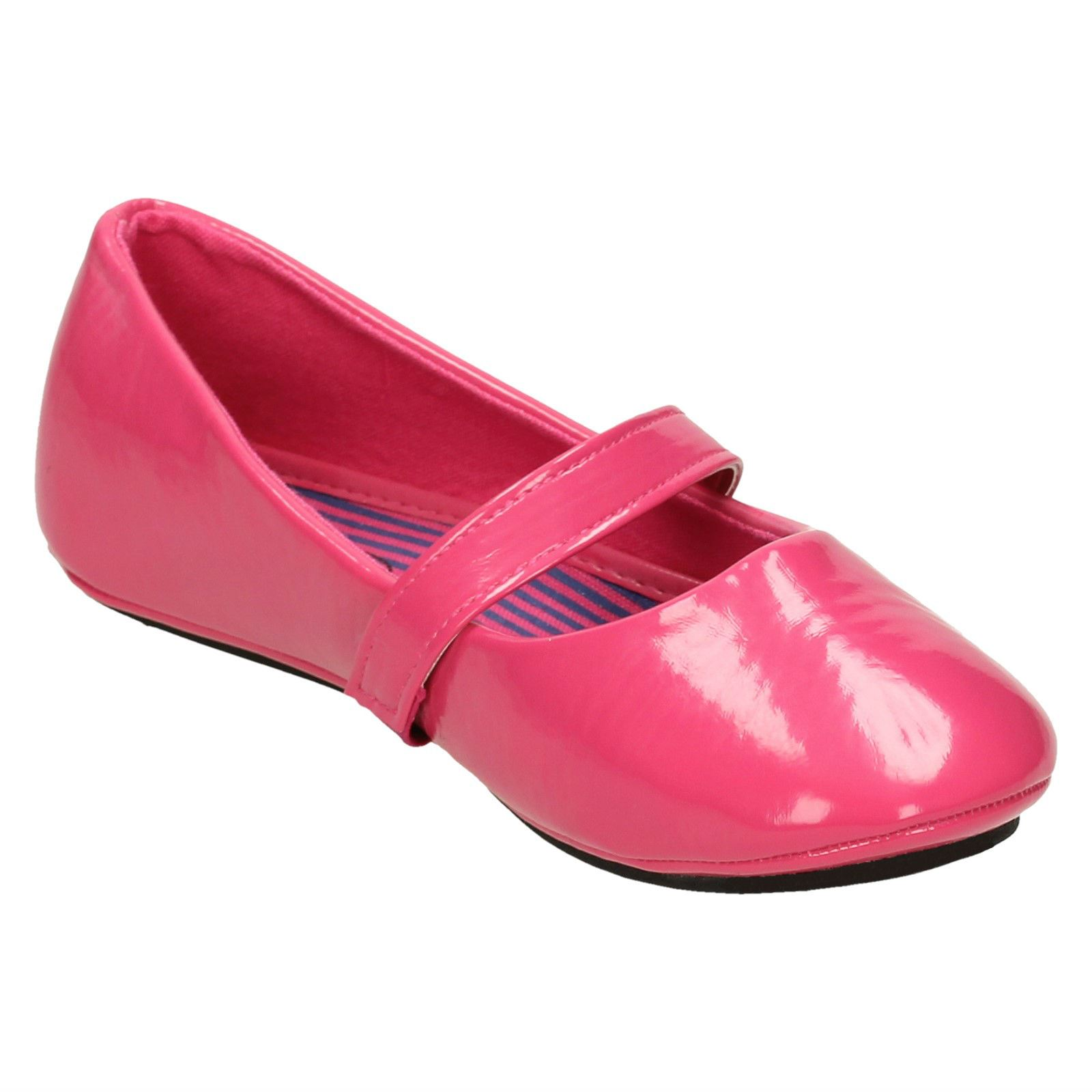 Spot On Girls Flat Ballerina with Elasticated Strap