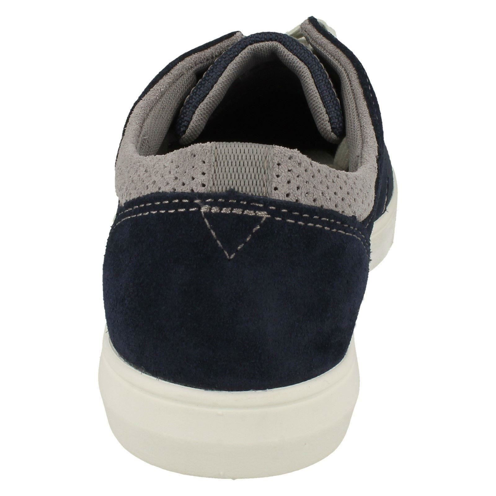 Mens Clarks Rounded Toe Casual Lace Up Suede /& Textile Shoes Landry Edge