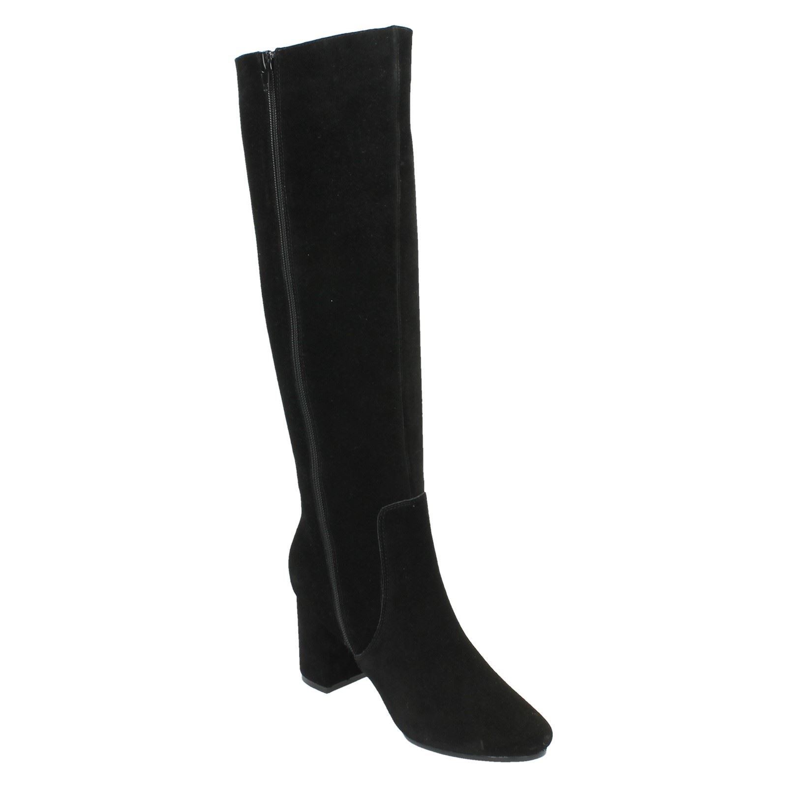 Ladies Leather Collection Suede Knee High Boots F50536