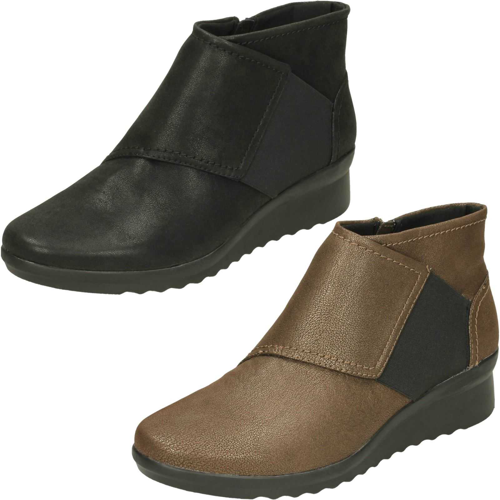 a2da02c0c43 Image is loading Ladies-Clarks-Caddell-Rush-Ankle-Boots