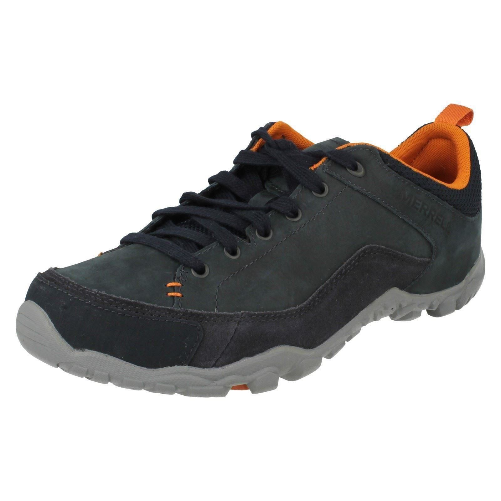 Uomo Merrell Rounded Toe Lace Schuhes Up Leder Casual Walking Schuhes Lace Telluride Lace dece02