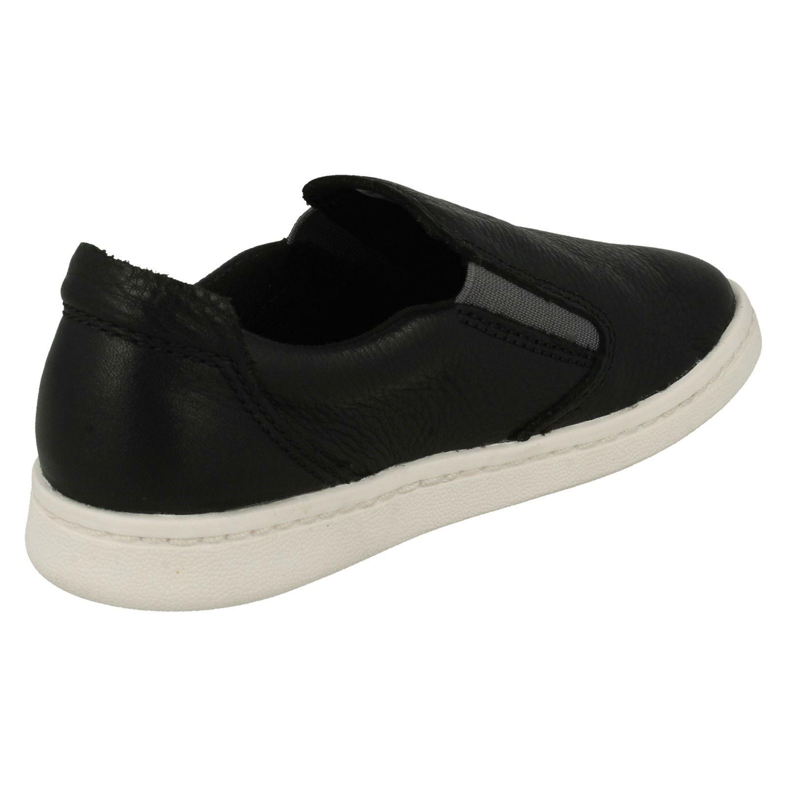Zapatillas cordones Verve Clarks niños estilo estilo Street Zapatos Black callejero sin para de con r51xnqrwT7