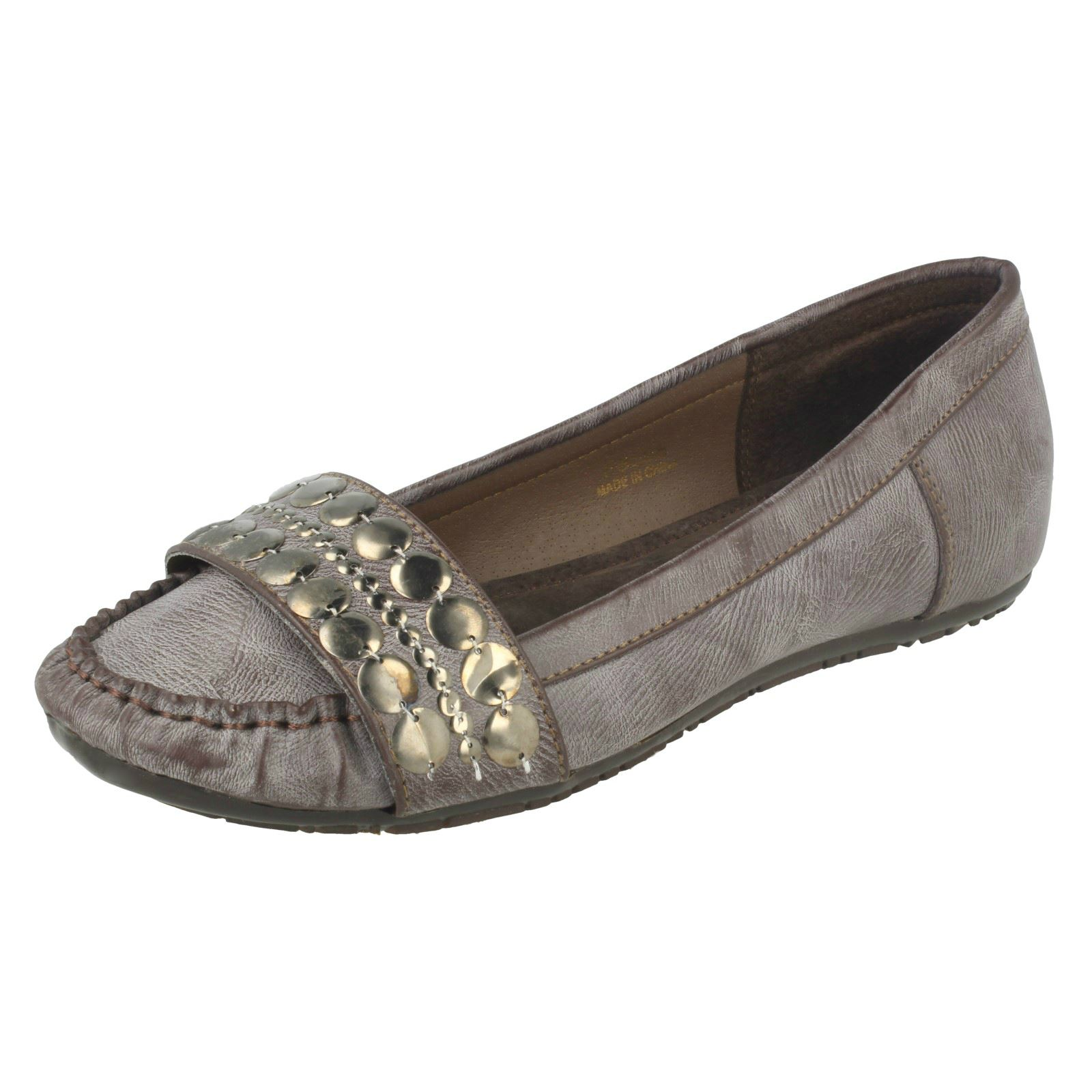 04a15776d45b Ladies Spot on Moccasin Style Flat Shoes Brown UK 5 Standard. About this  product. Picture 1 of 10  Picture 2 of 10 ...