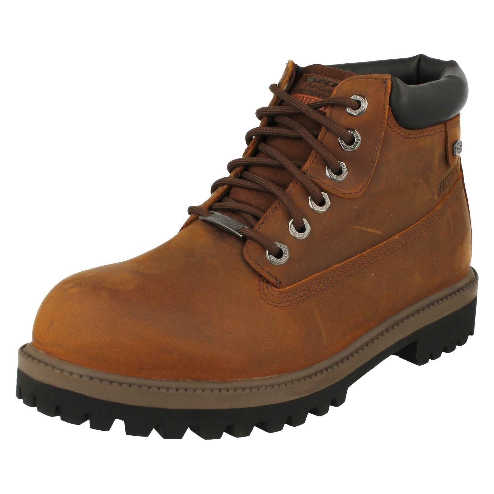 4442 Waterproof Lace Up Leather Ankle Boot By Skechers £65.00 Mens VERDICT
