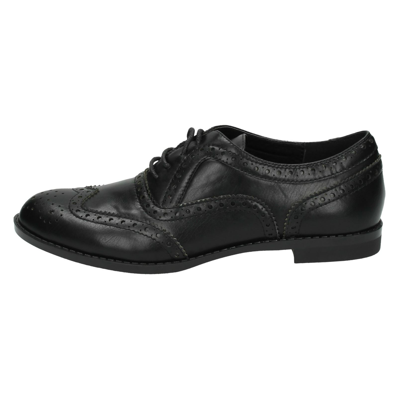 Spot On Ladies Casual Brogue Style Shoes