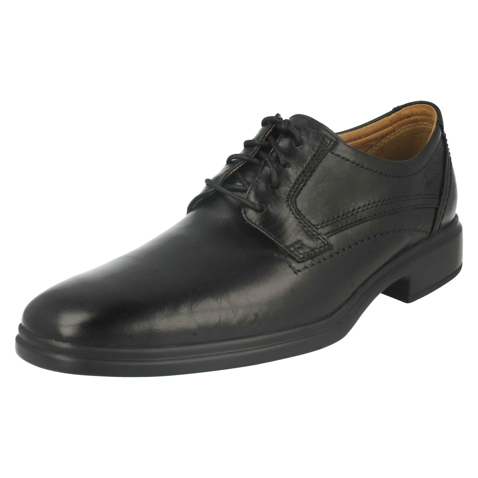 con Glevo para Clarks cordones zapatos formales hombre negro Walk IWAqwYqFZ