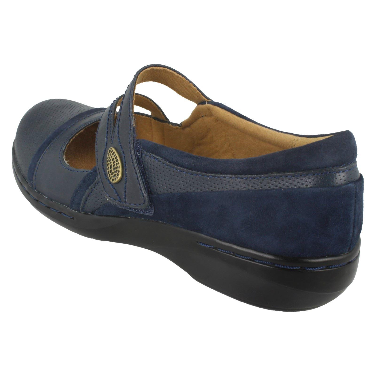 Clarks Pisos Casual azul Crown Navy de Everyday cuero Hook Ladies Loop Evianna pfdWwadq