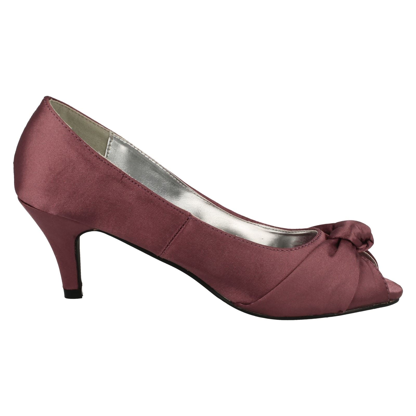 Anne-Michelle-Ladies-Knot-Detail-Peep-Toe-Court-Shoe thumbnail 25