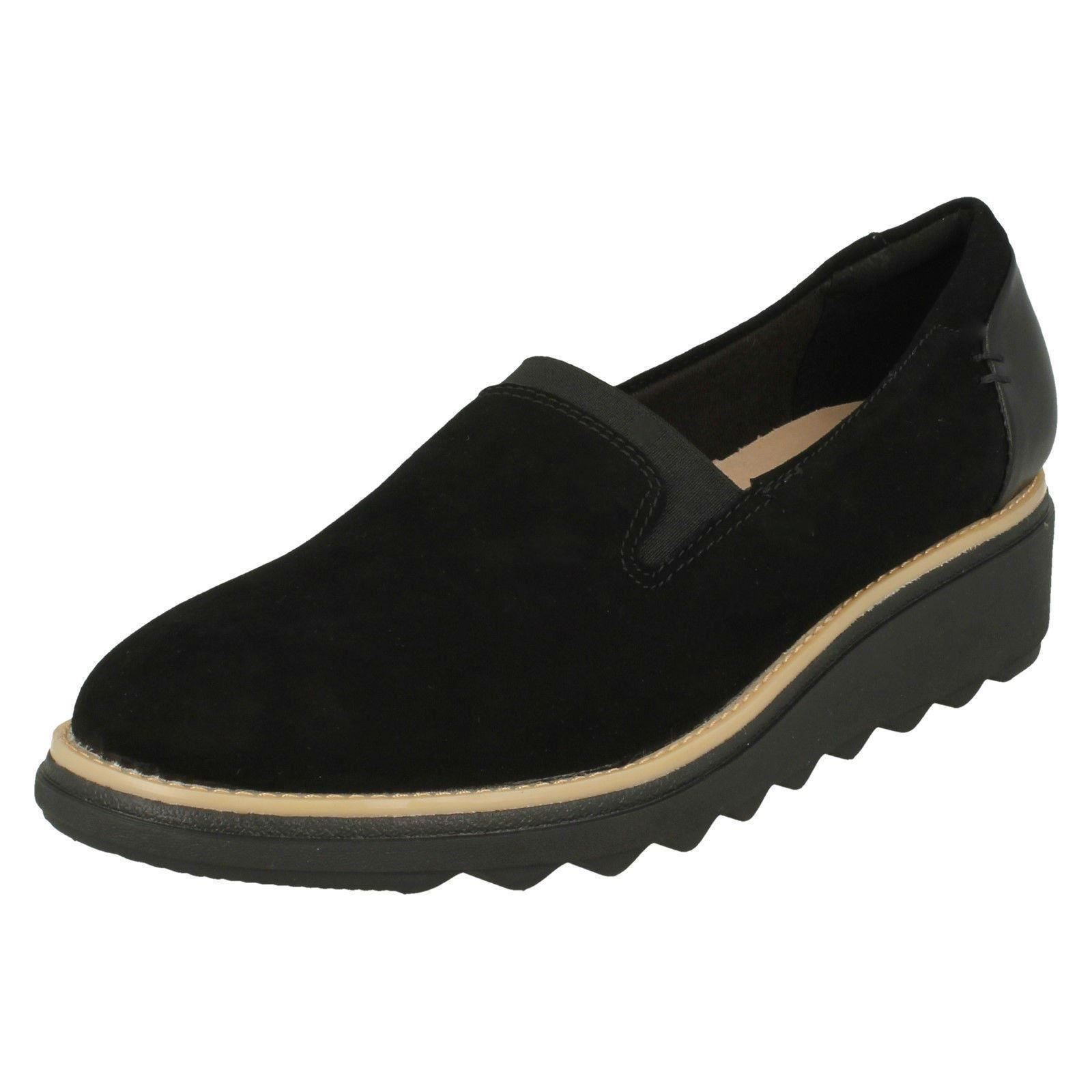 ae0bfdd3f1f Details about Ladies Clarks Slip On Smart Suede Leather Shoes -  Sharon  Dolly