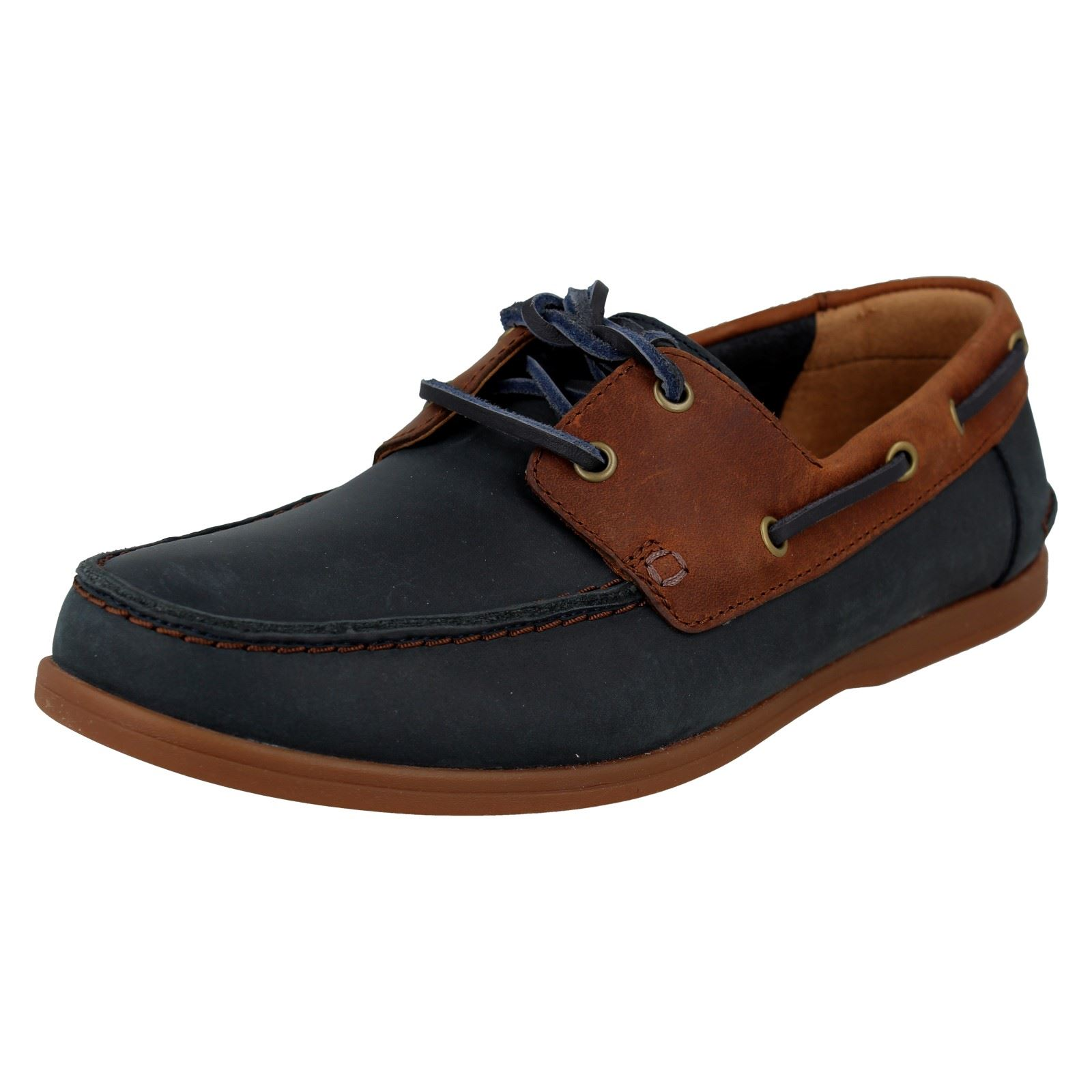 Details zu Mens Clarks Lace Up Deck Shoes Pickwell Sail