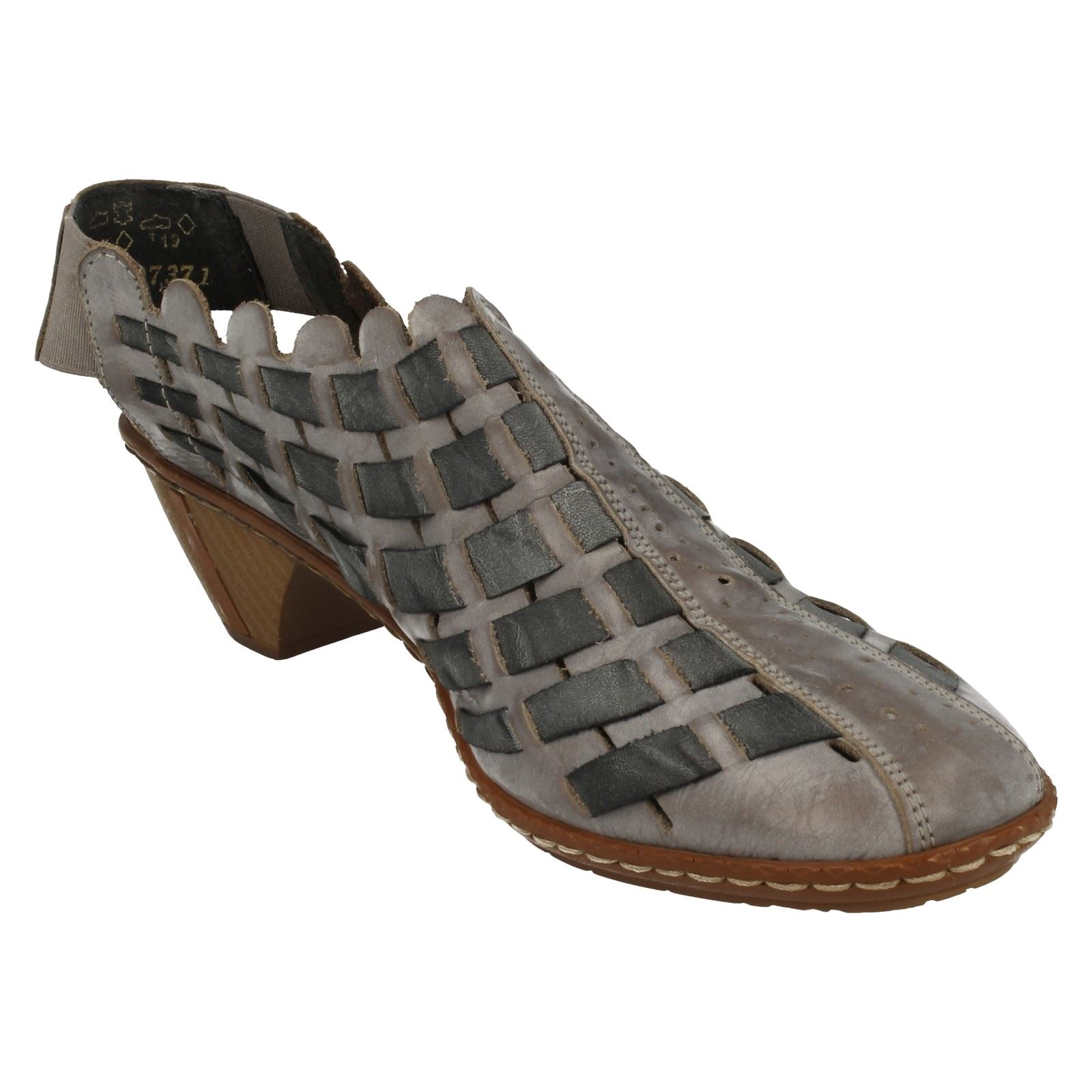 Damenschuhe Rieker Sling Back Schuhes With Woven Detail - 46778