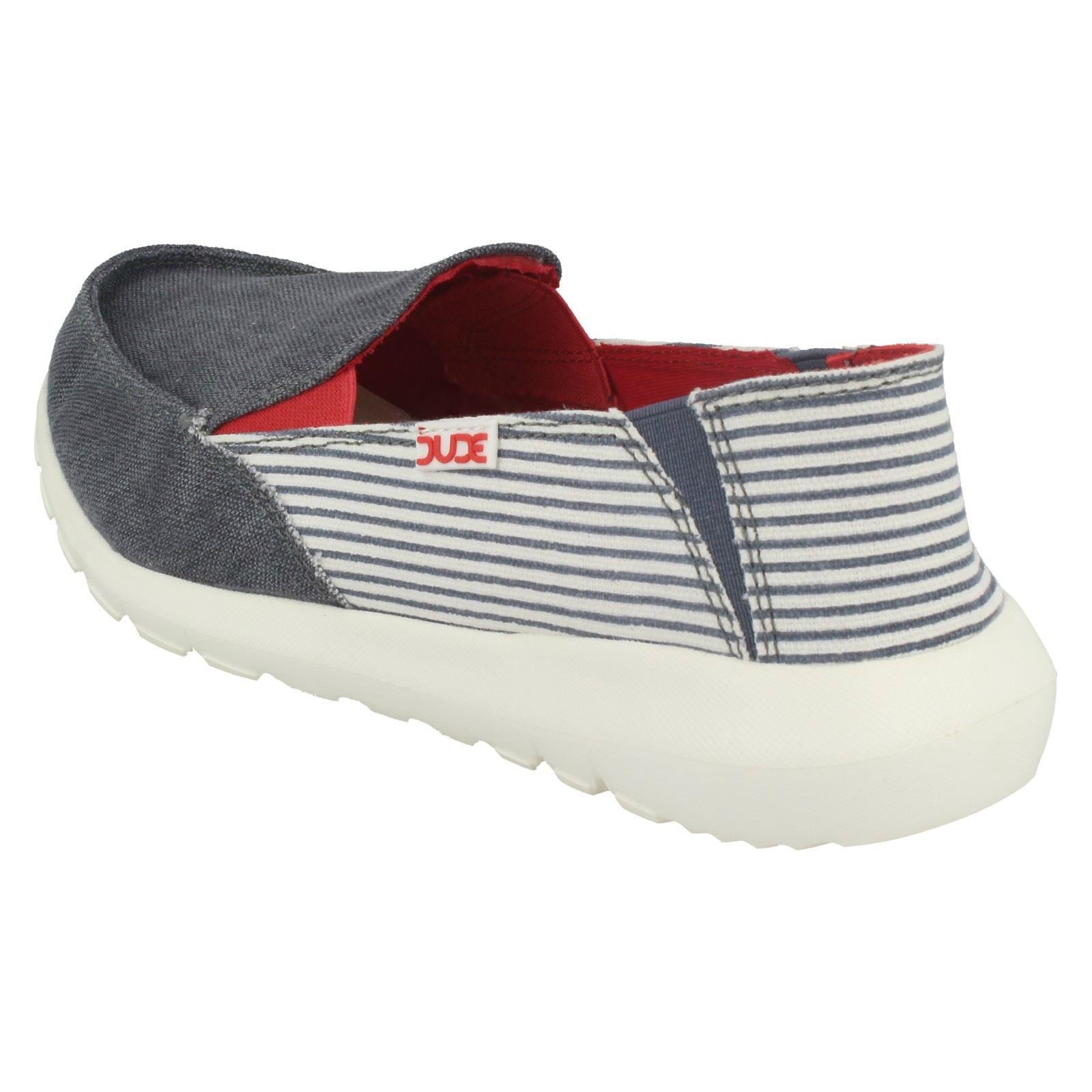 Ava Marine Stripe Hey Casual On Dude blue Ladies Slip Pumps BnTnHqCx