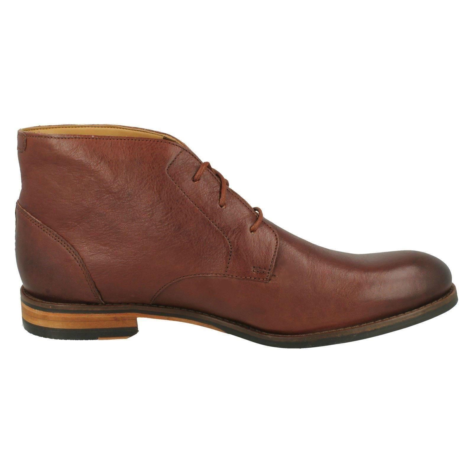 cordones Botas Flow hombre British Top marrón con para Clarks Tan rTwqrxp