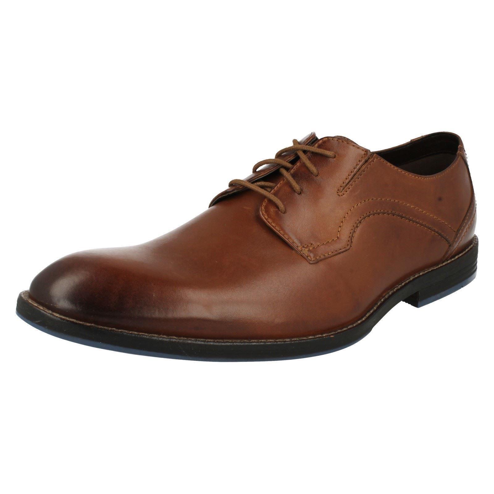 Mens Clarks Formal - Lace Up Leather Shoes - Formal Prangley Walk 161699